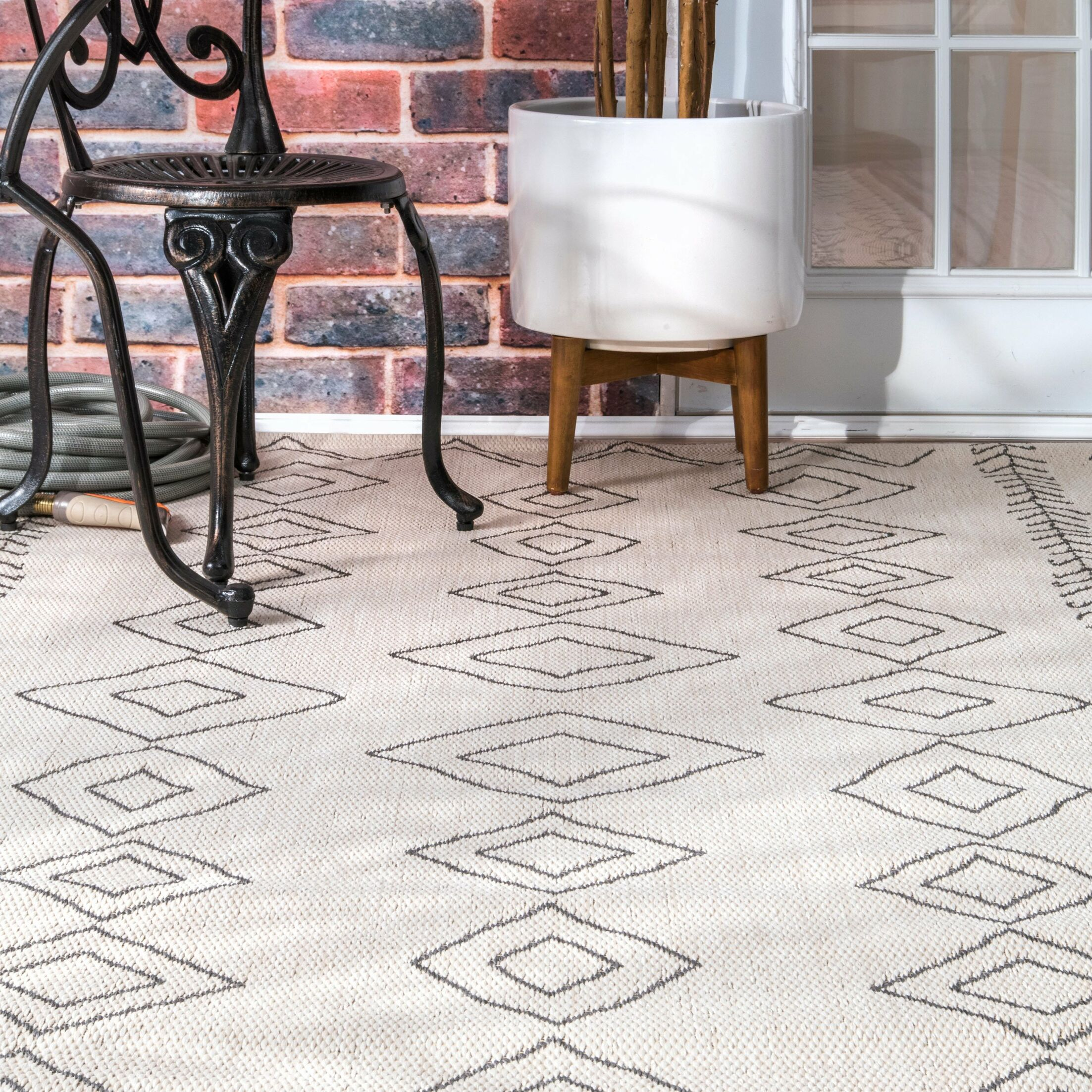 Honora Ivory Indoor/Outdoor Area Rug Rug Size: Rectangle 8' 6