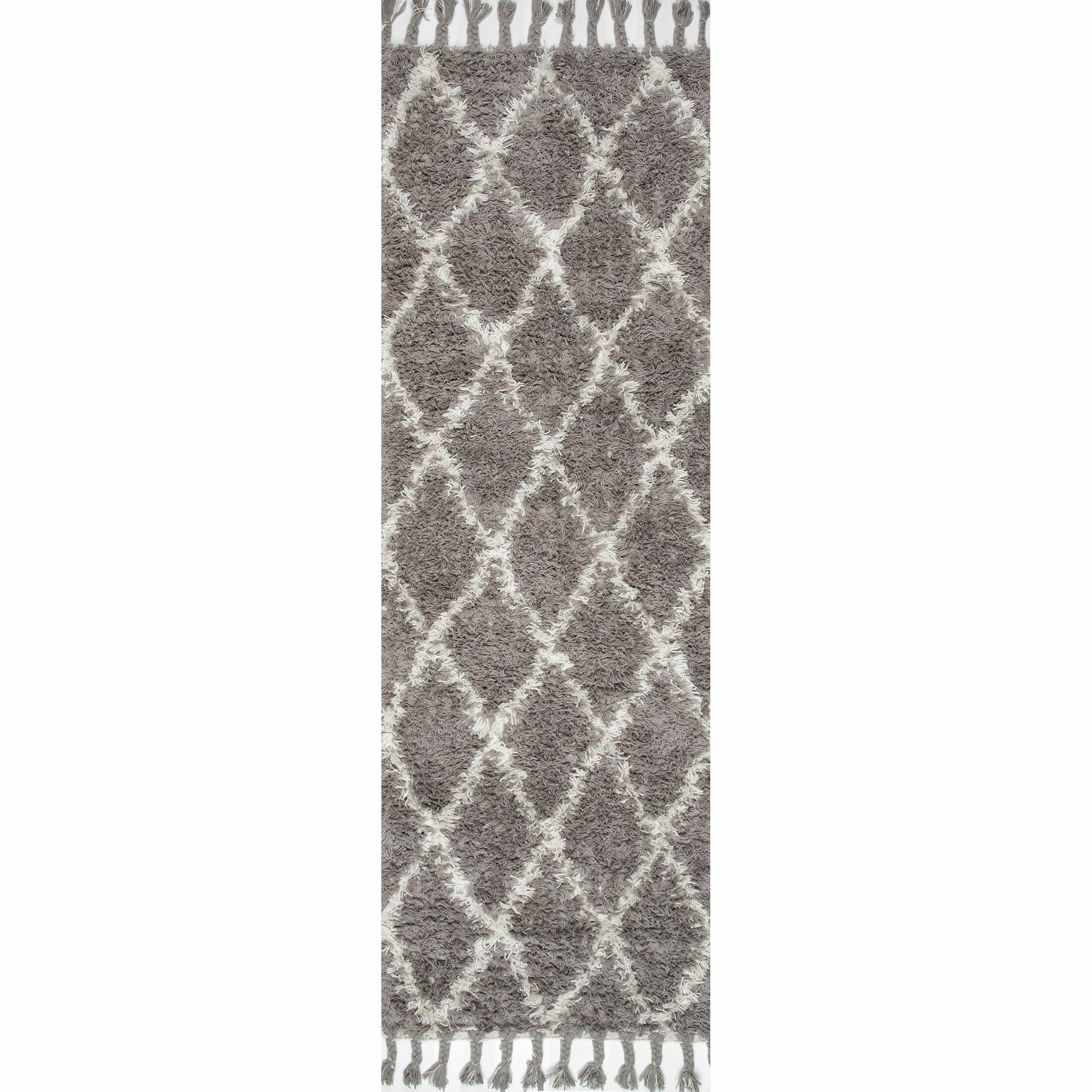 Caiden Hand-Knotted Gray Area Rug Rug Size: Runner 2'8
