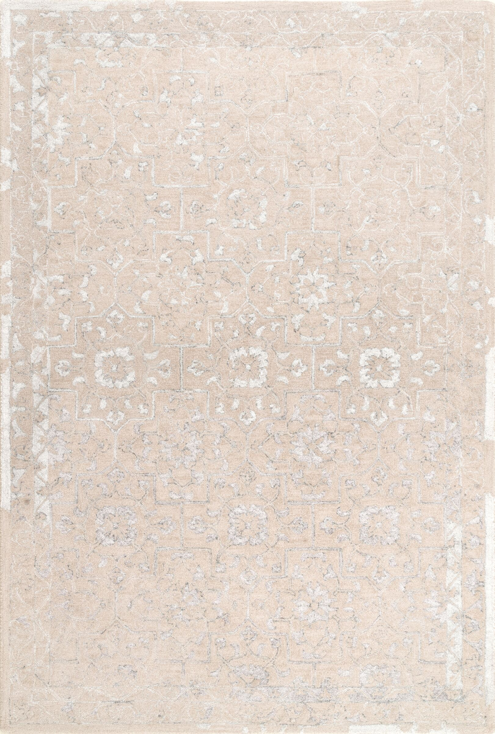 Axis Hand-Tufted Beige Area Rug Rug Size: Rectangle 7' 6