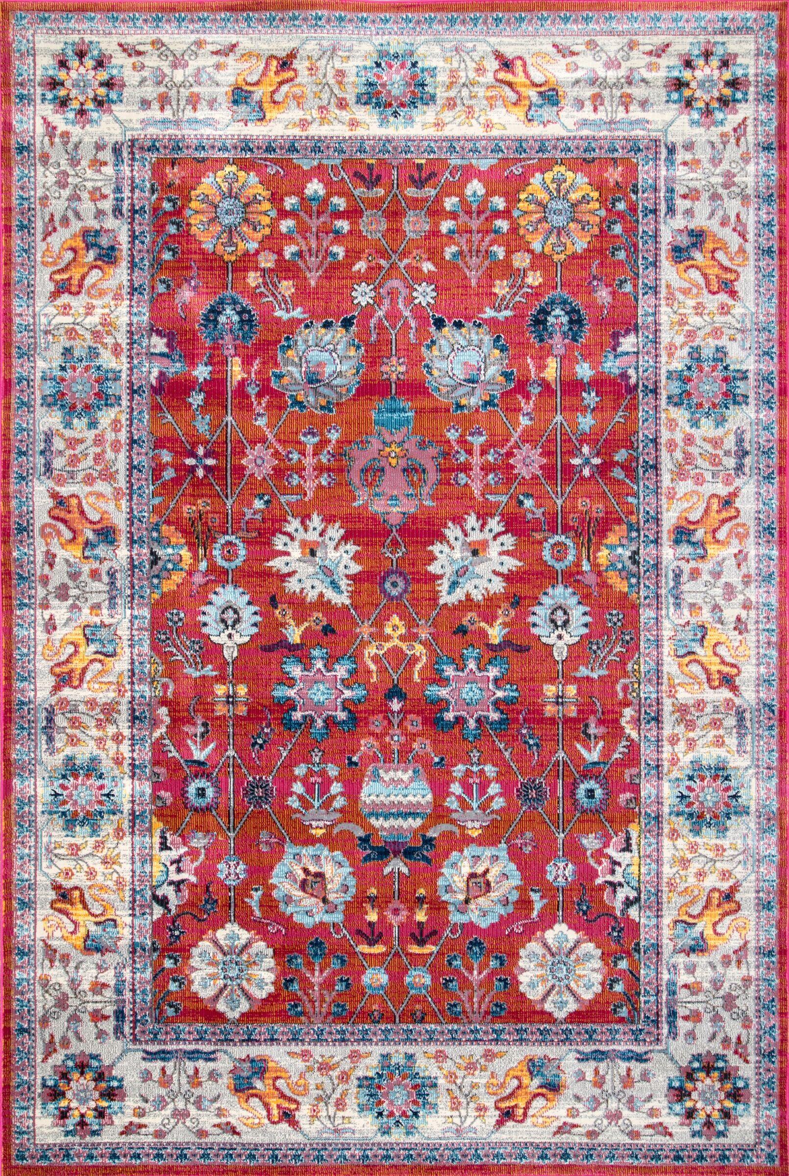Guilderland Red/Blue Area Rug Rug Size: Rectangle 9' x 12'