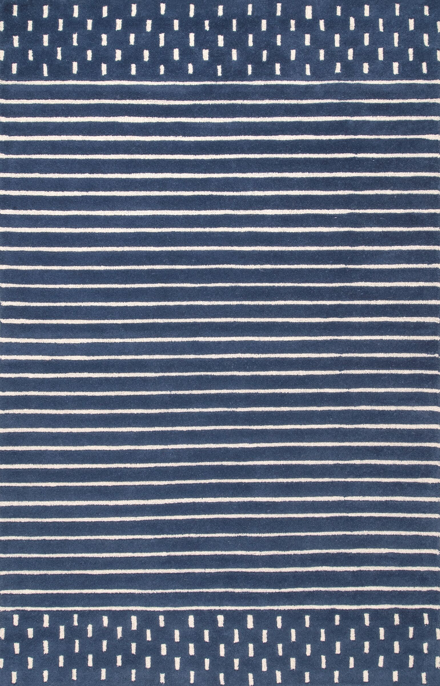 Badger Hand Woven Wool Navy Area Rug Rug Size: Rectangle 5' x 8'