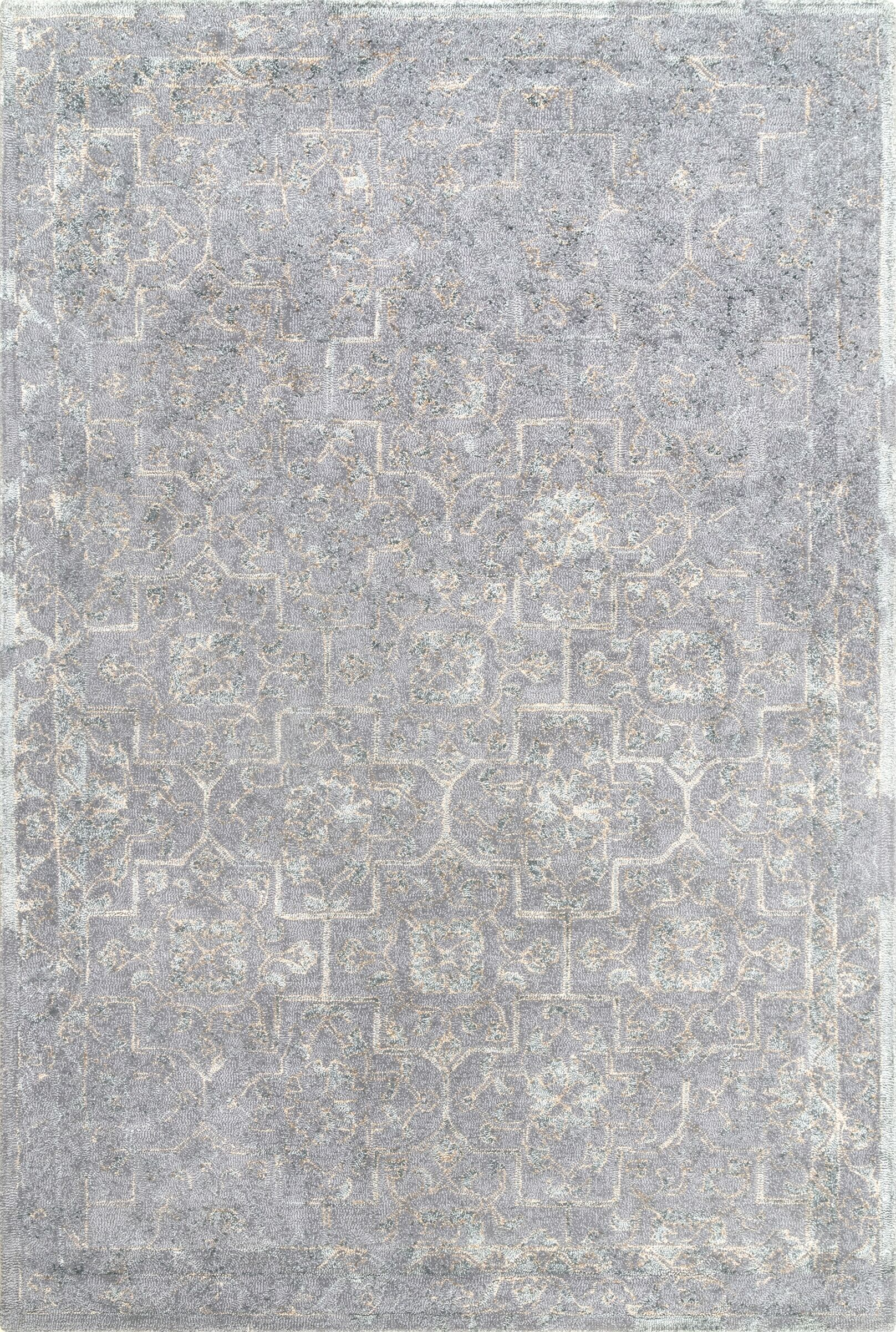 Aviana Hand-Tufted Gray Area Rug Rug Size: Rectangle 7' 6