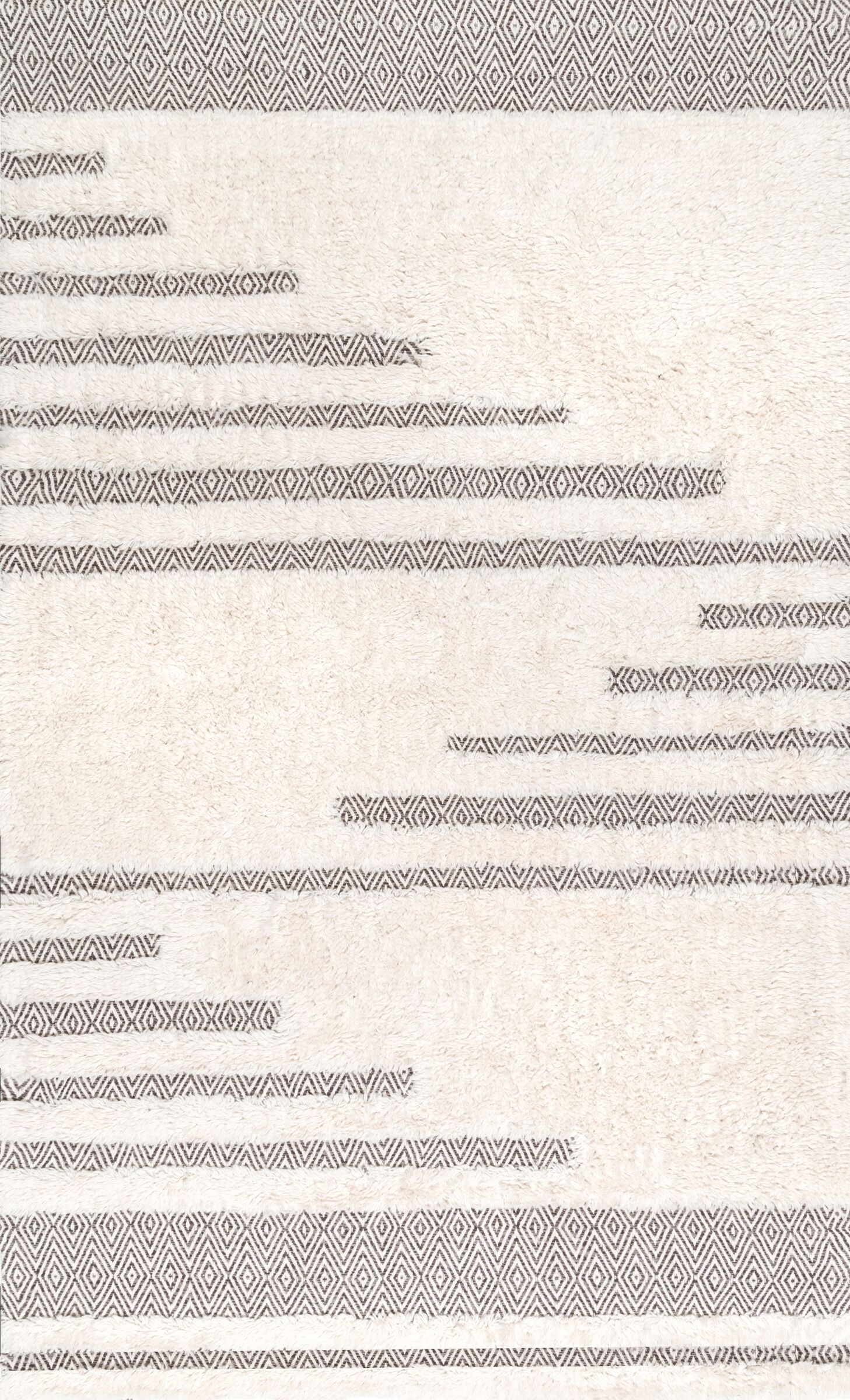 Ormside Cotton/Wool Ivory Area Rug Rug Size: Rectangle 3' x 5'
