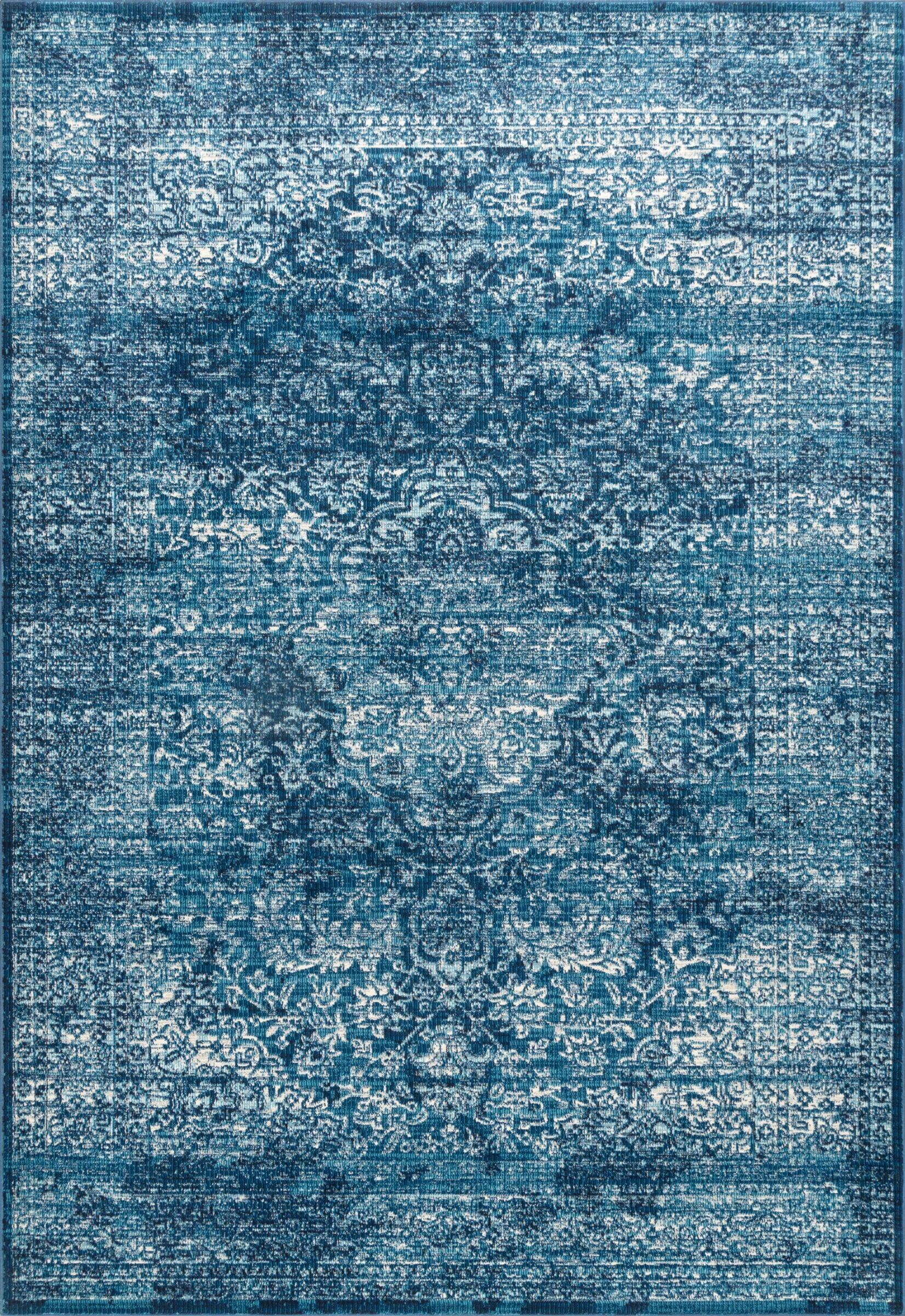 Tyra Blue Area Rug Rug Size: Rectangle 5' 3