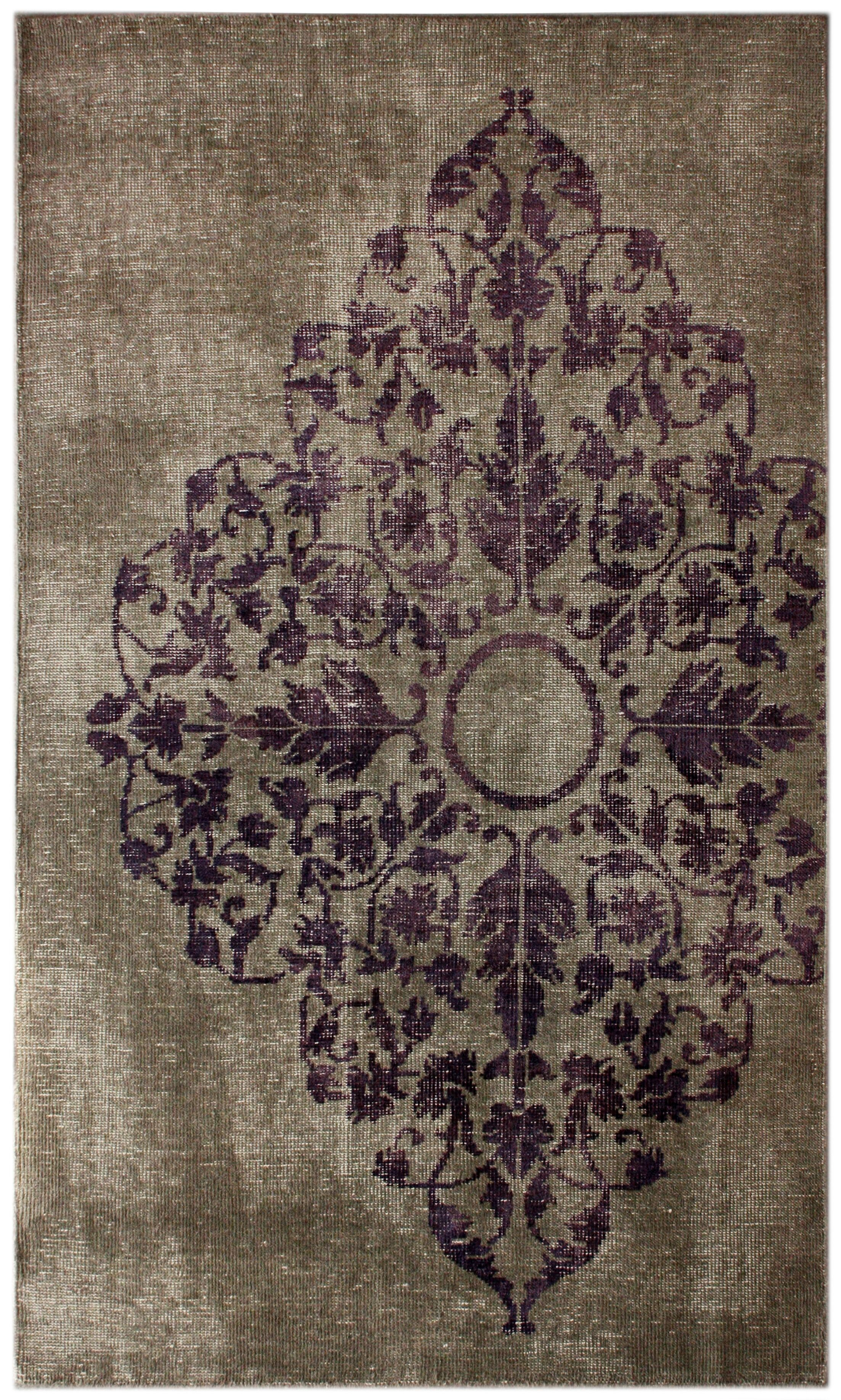Couture Hand-Knotted Wool Gray Area Rug Rug Size: Rectangle 8' x 10'