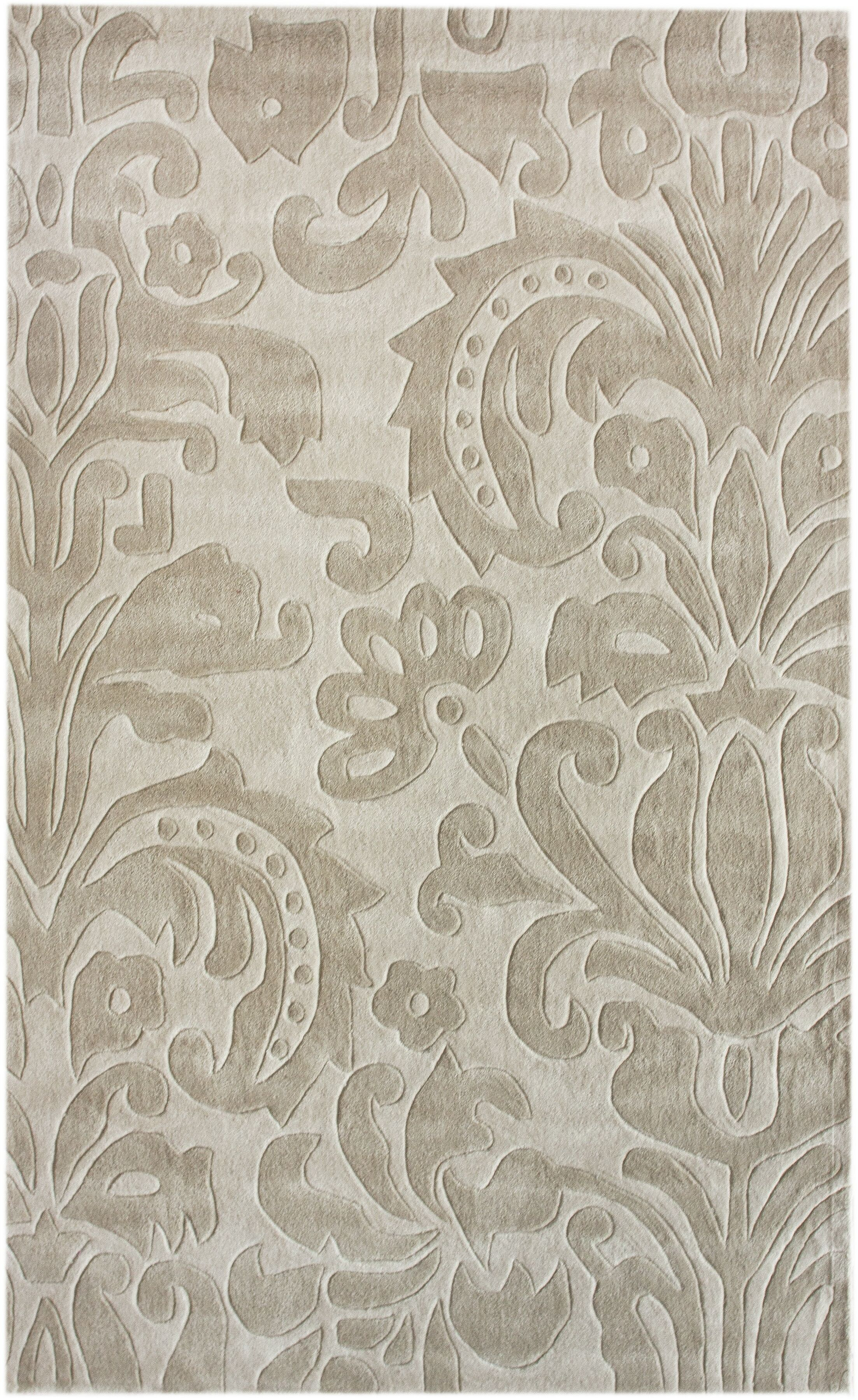 Major Hand-Tufted Beige Area Rug Rug Size: Rectangle 6' x 9'