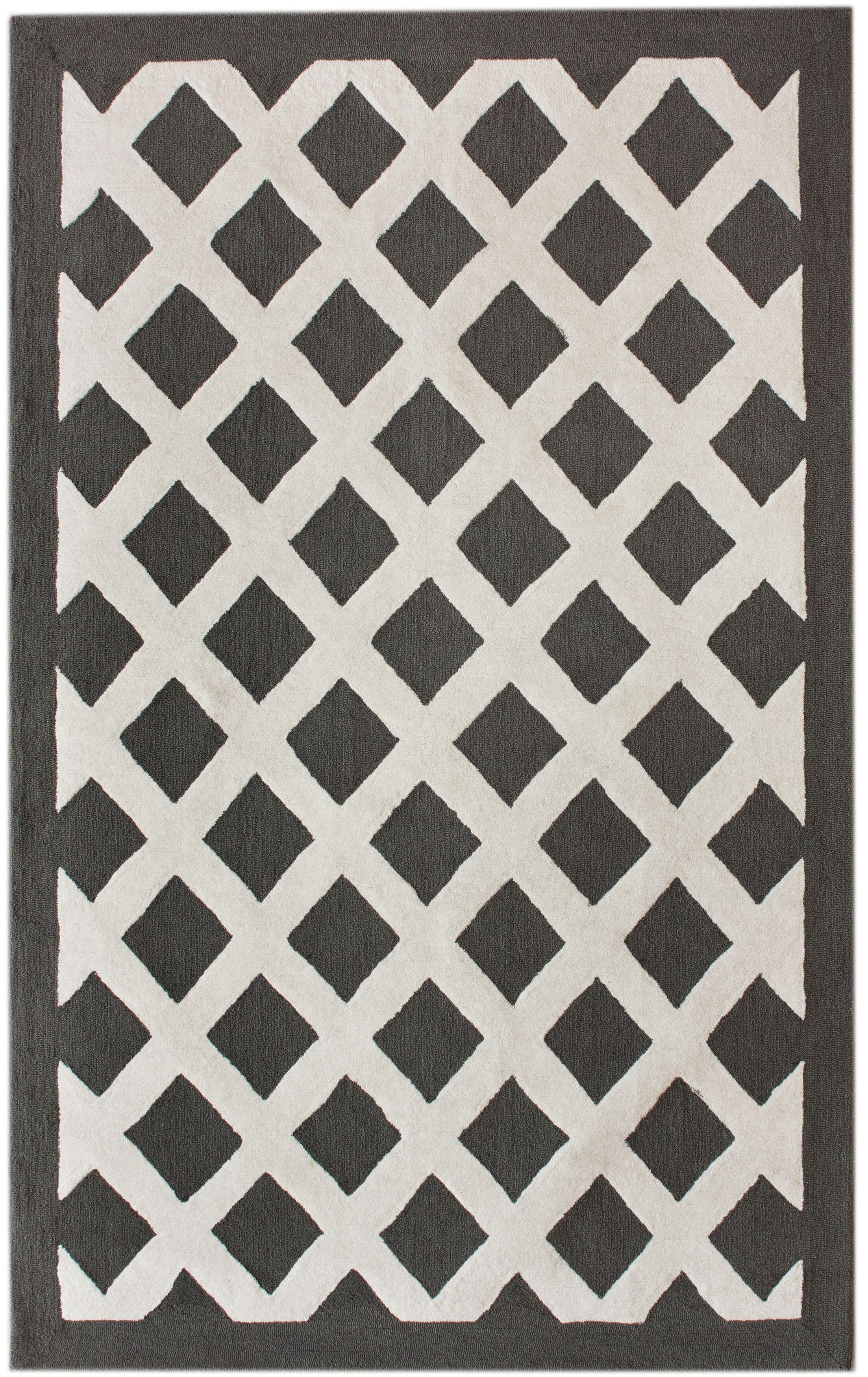 Marrakesh Konico Hand-Tufted Black/Gray Area Rug Rug Size: Rectangle 5' x 8'