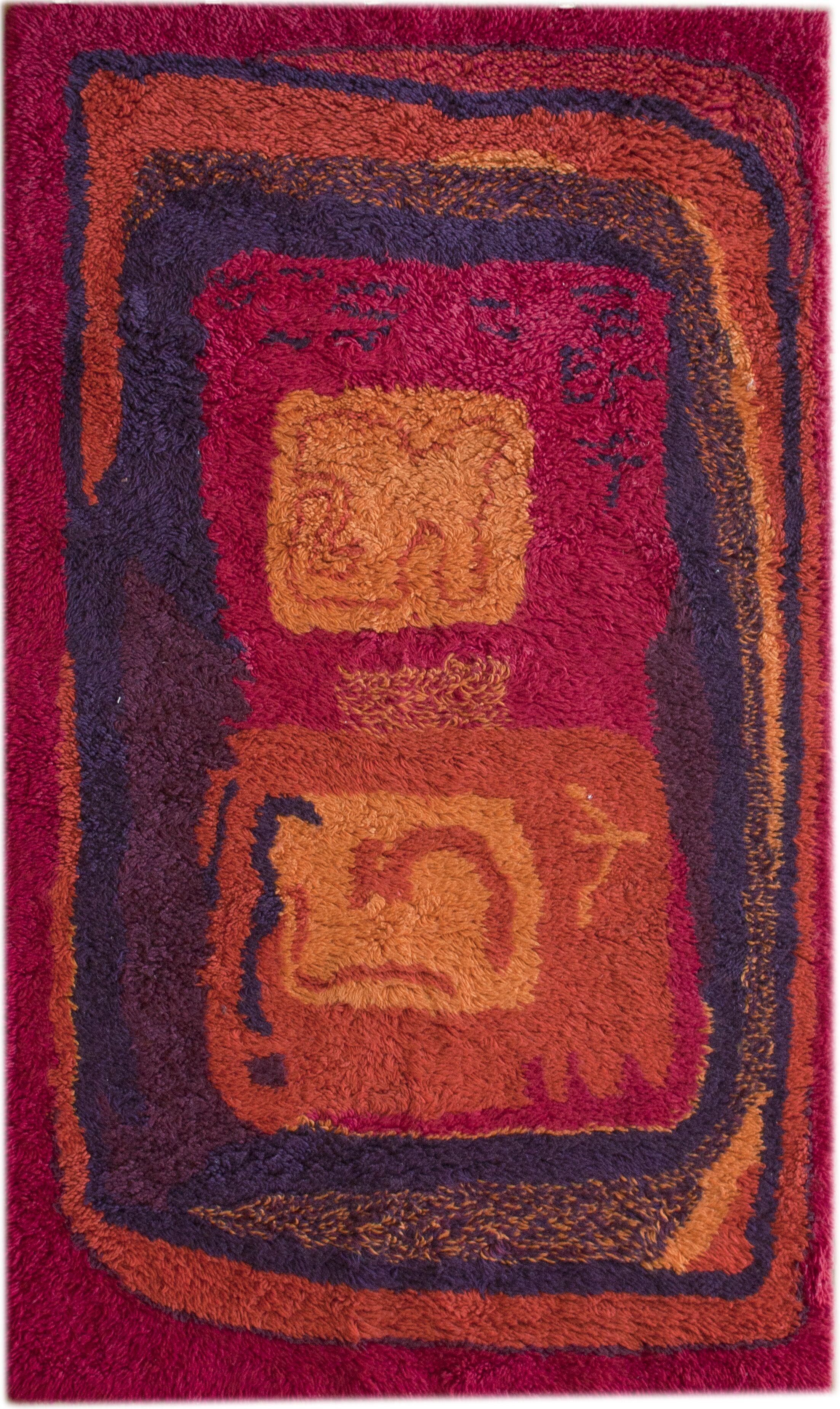 Rya Ashford Invigorate Hand-Tufted Wool Red/Black Area Rug Rug Size: Rectangle 6' x 9'