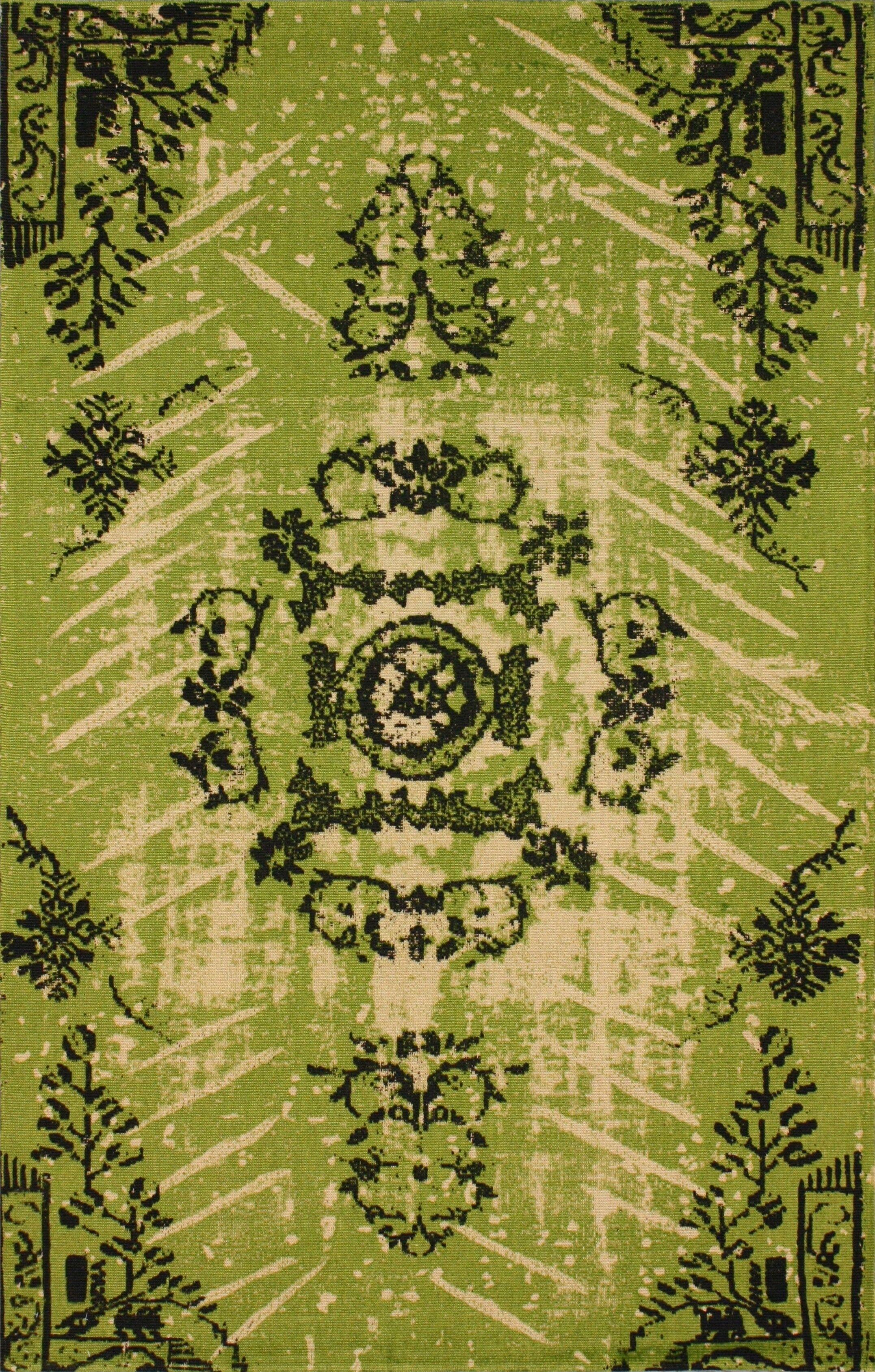 Natural Kolor Hand-Woven Lime Area Rug Rug Size: Rectangle 5' x 8'