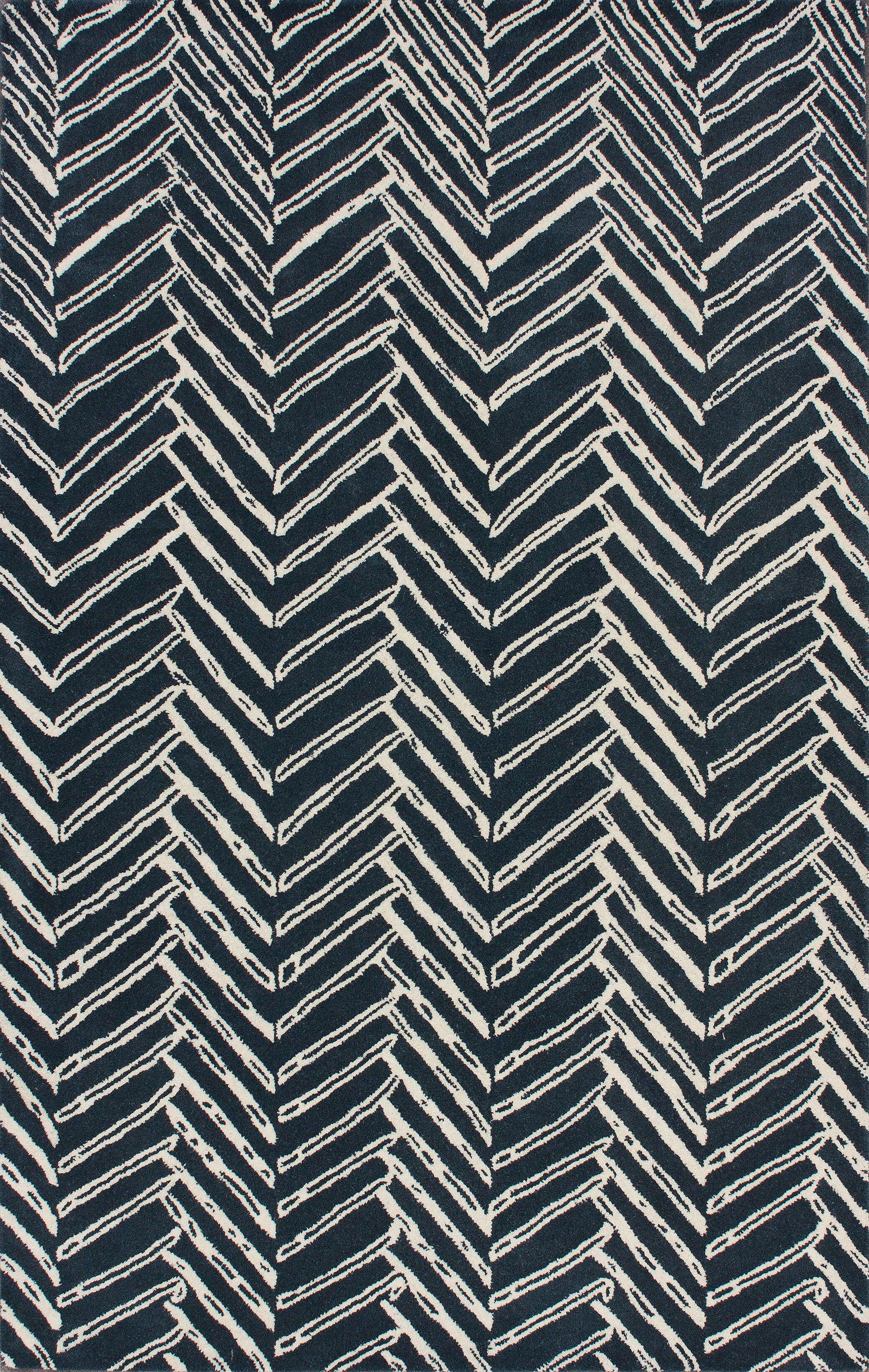 Olivo Denim Chevron Area Rug Rug Size: Rectangle 3' x 5'