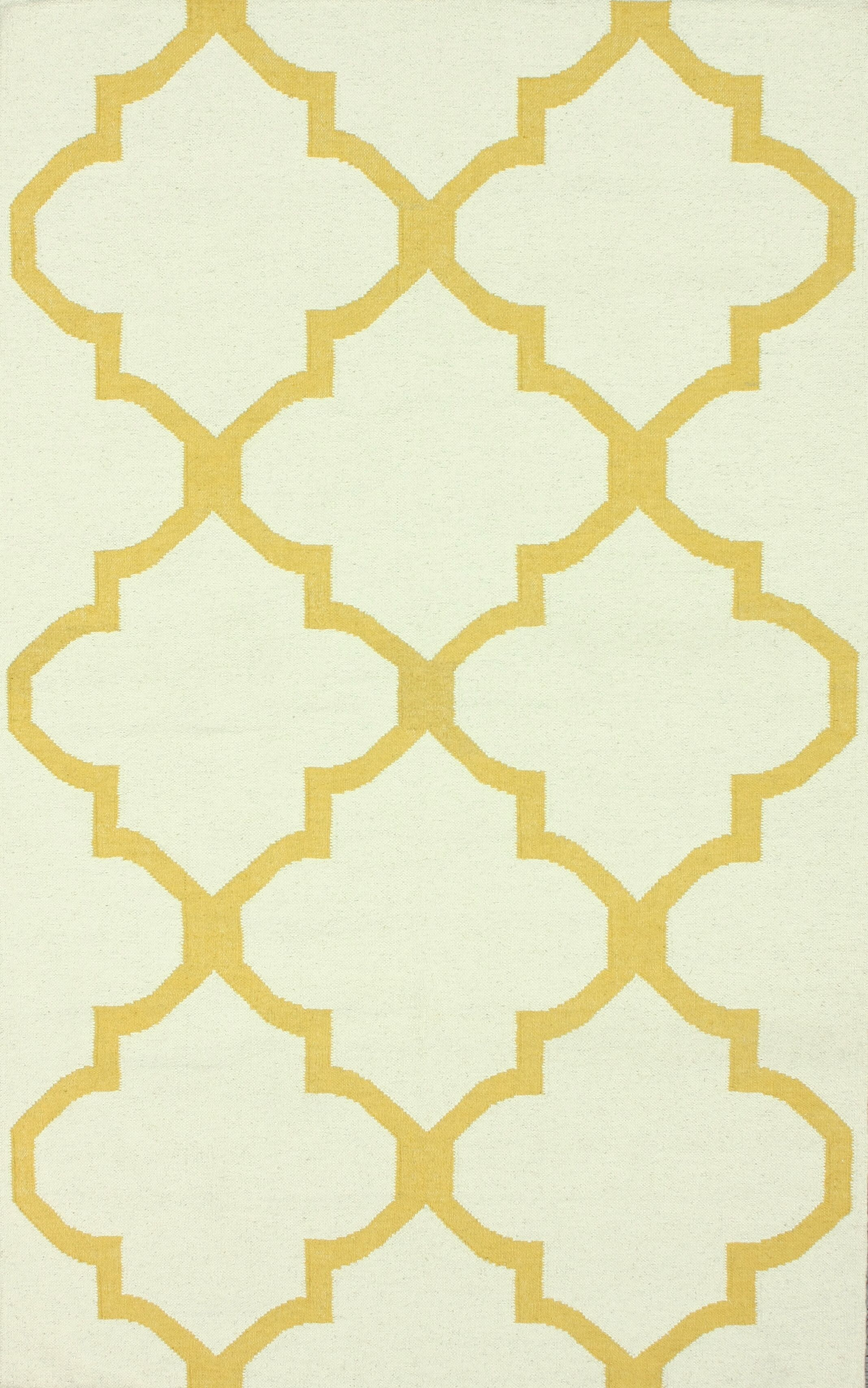 Moderna Hand-Woven Wool Gold Area Rug Rug Size: Rectangle 7'6