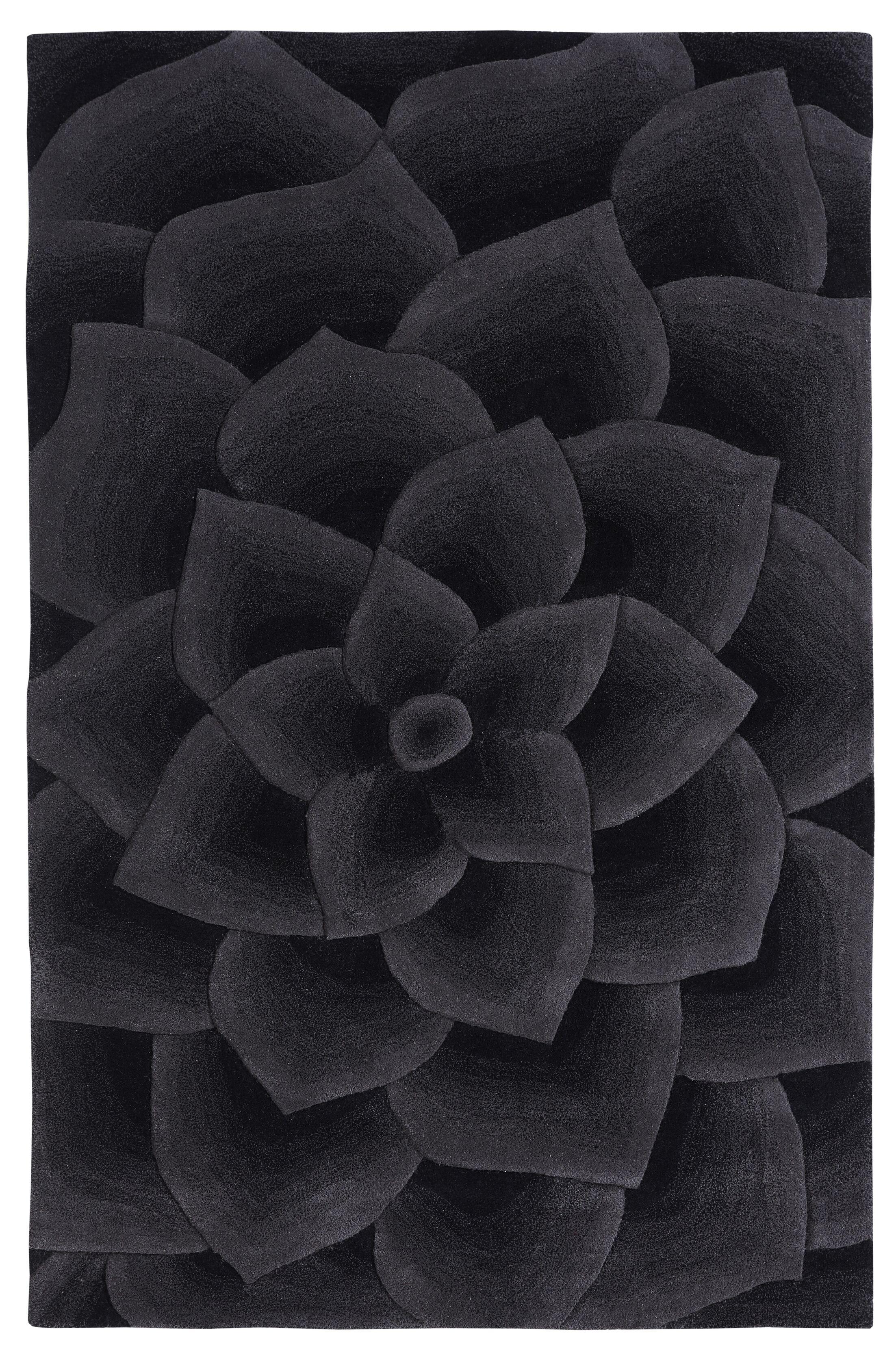 Moderna Hand-Tufted Charcoal Area Rug Rug Size: Rectangle 7'6