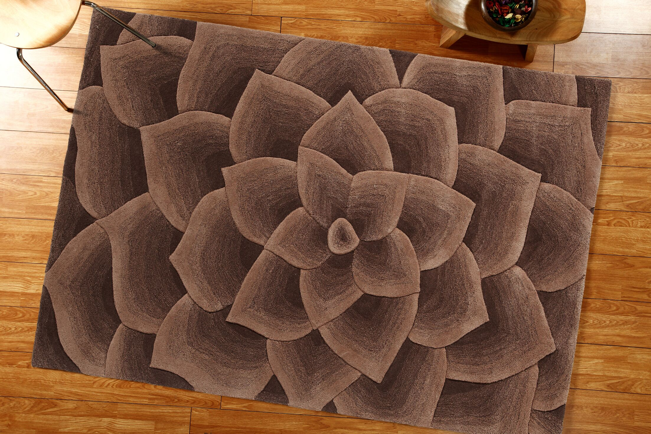 Elegance Hand-Tufted Taupe Area Rug Rug Size: Rectangle 5' x 8'