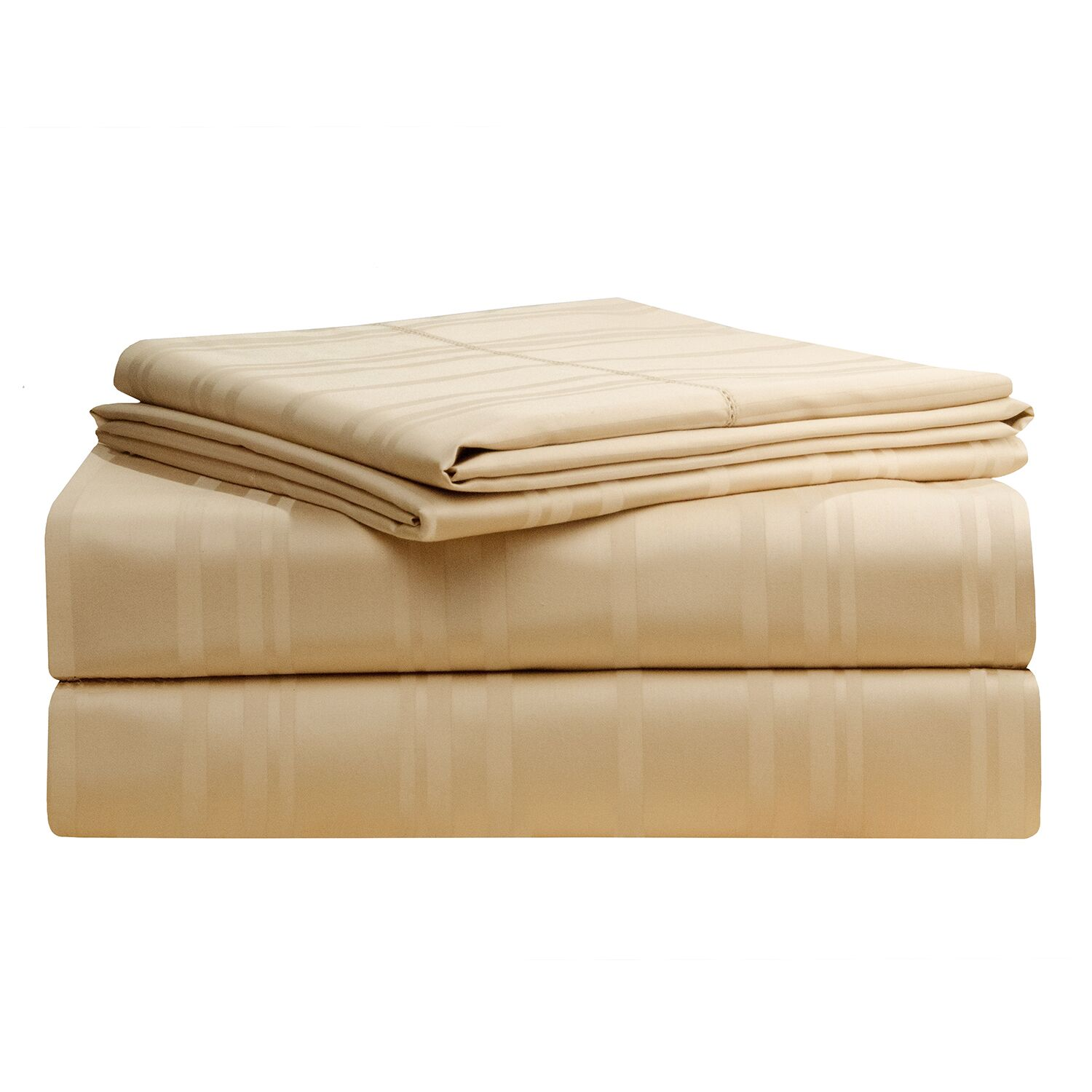 Stripe 510 Thread Count Pima Cotton Sheet Set Size: California King, Color: Oyster