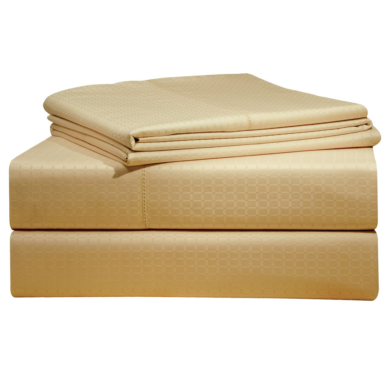 Dobby 525 Thread Count Pima Cotton Sheet Set Size: Queen, Color: Pebble