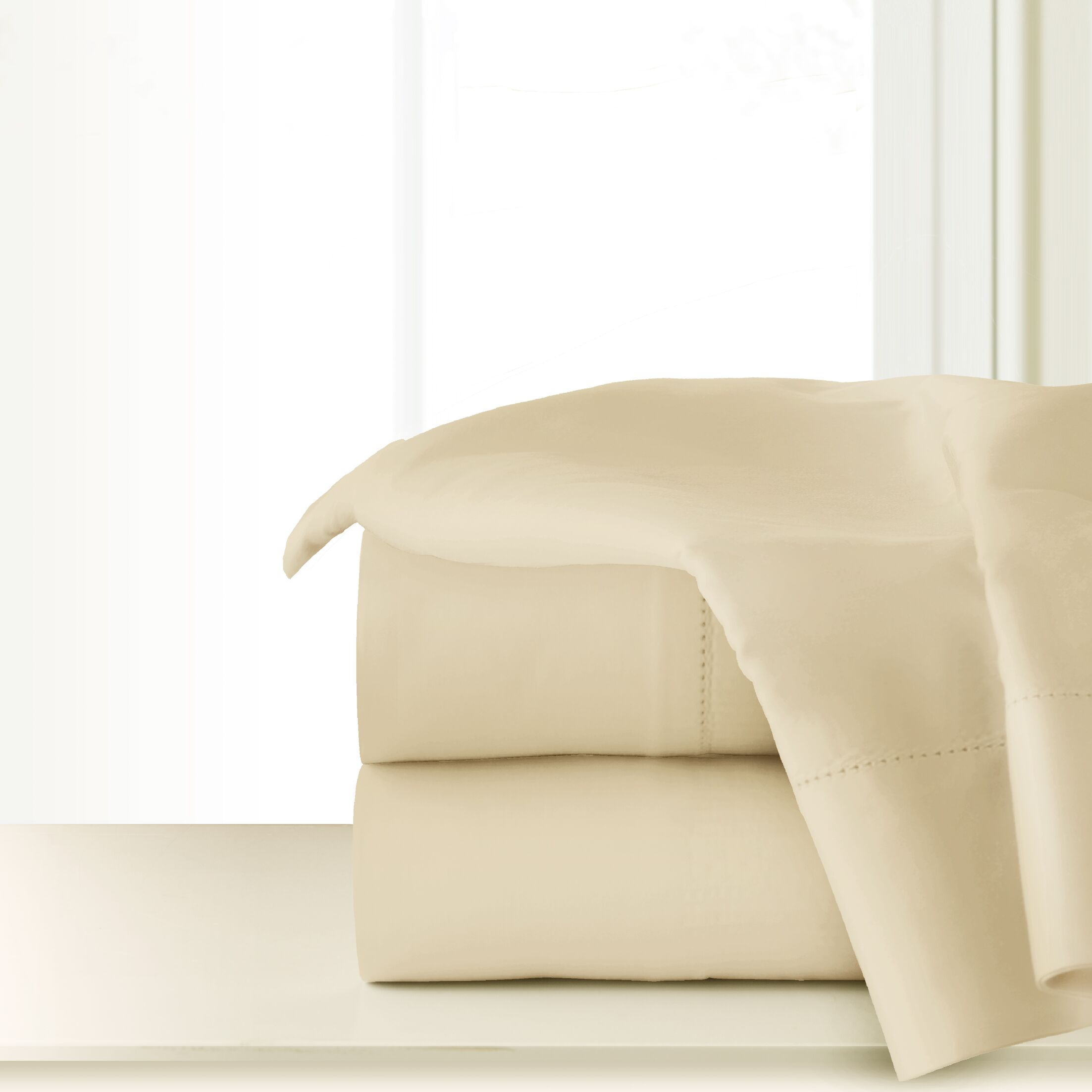 410 Thread Count Sheet Set Size: Extra-Long Twin, Color: Bone