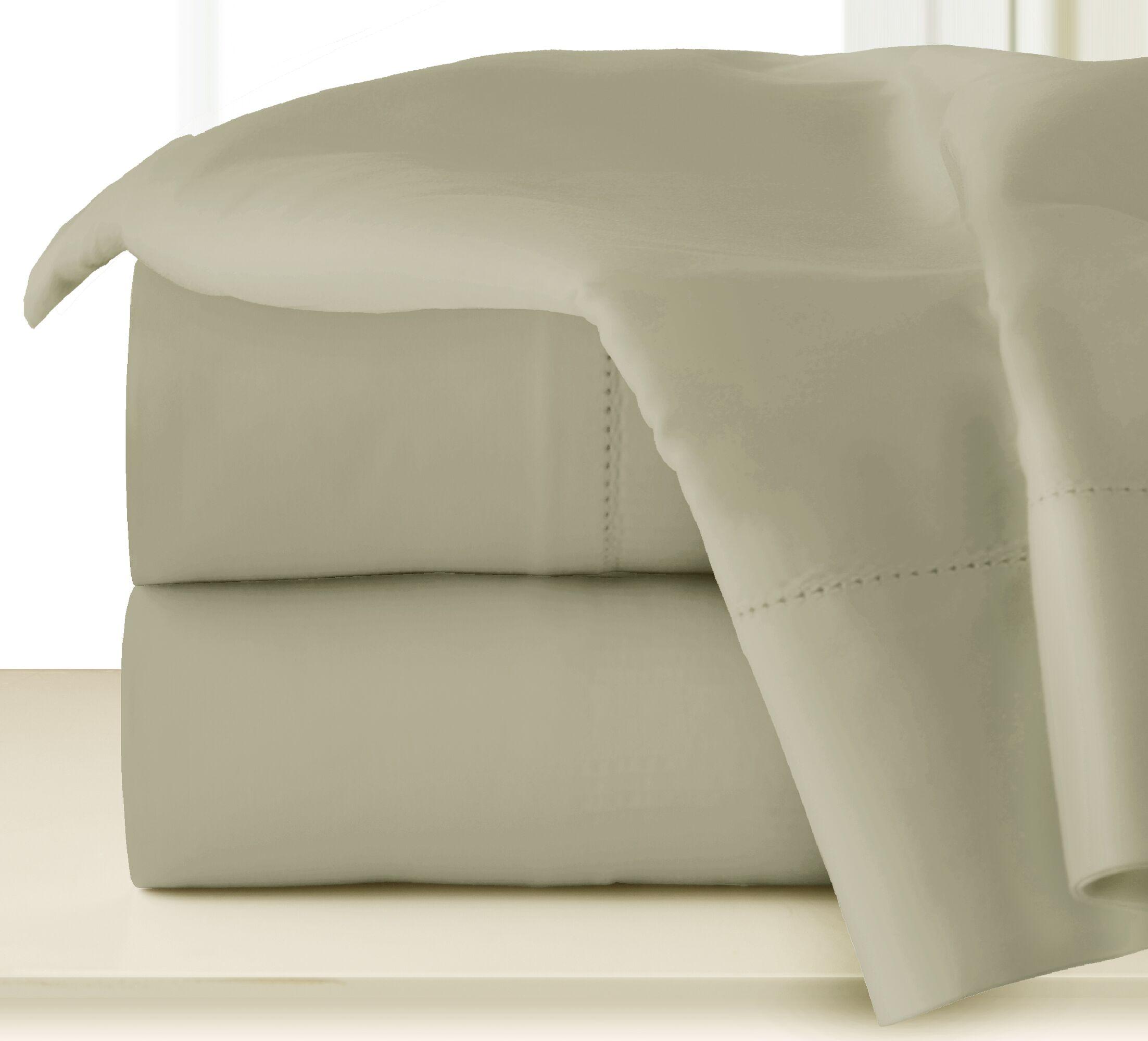 410 Thread Long Staple Count Cotton Sheet Set Color: Elm, Size: King