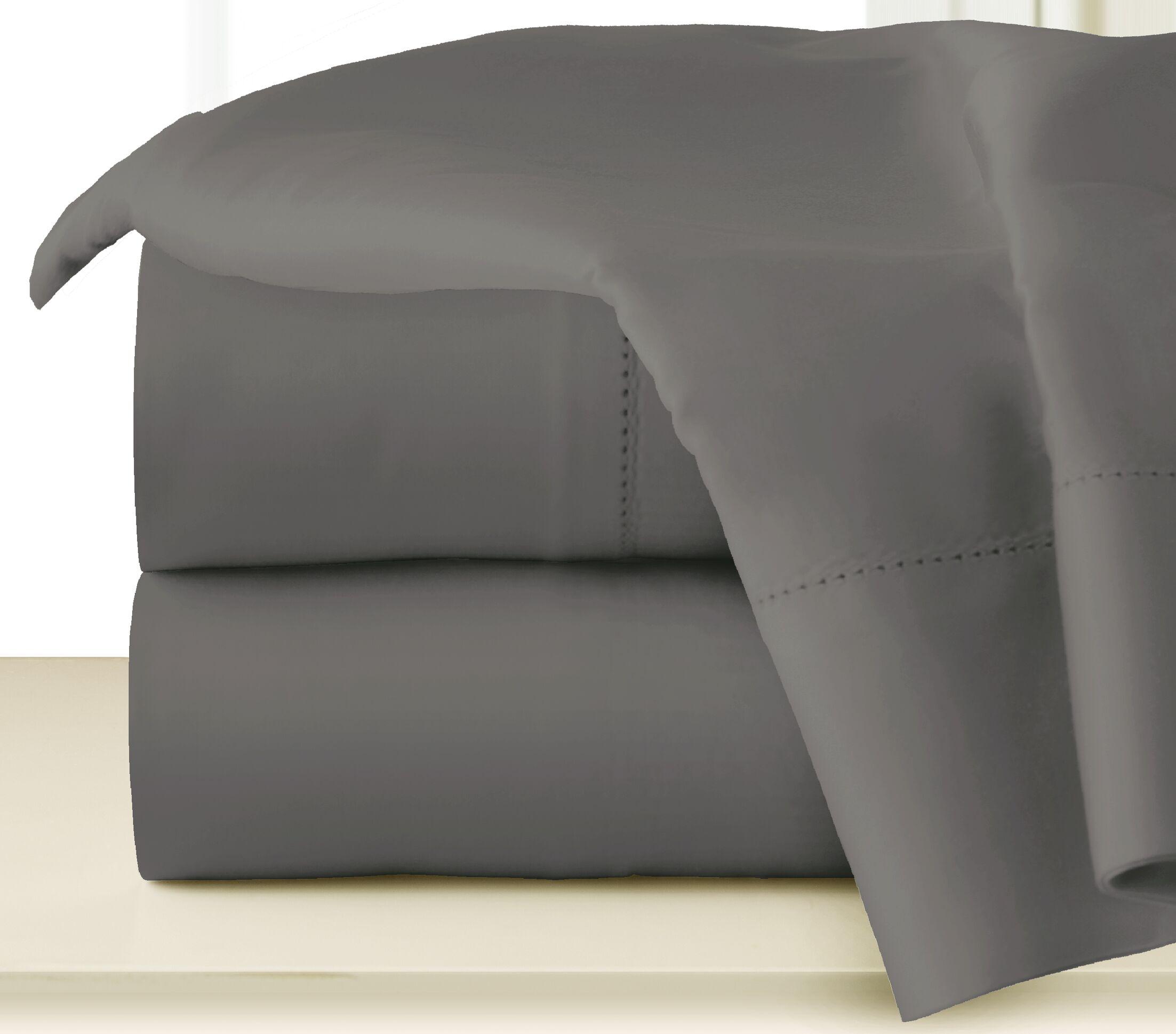 410 Thread Long Staple Count Cotton Sheet Set Size: California King, Color: Medium Gray
