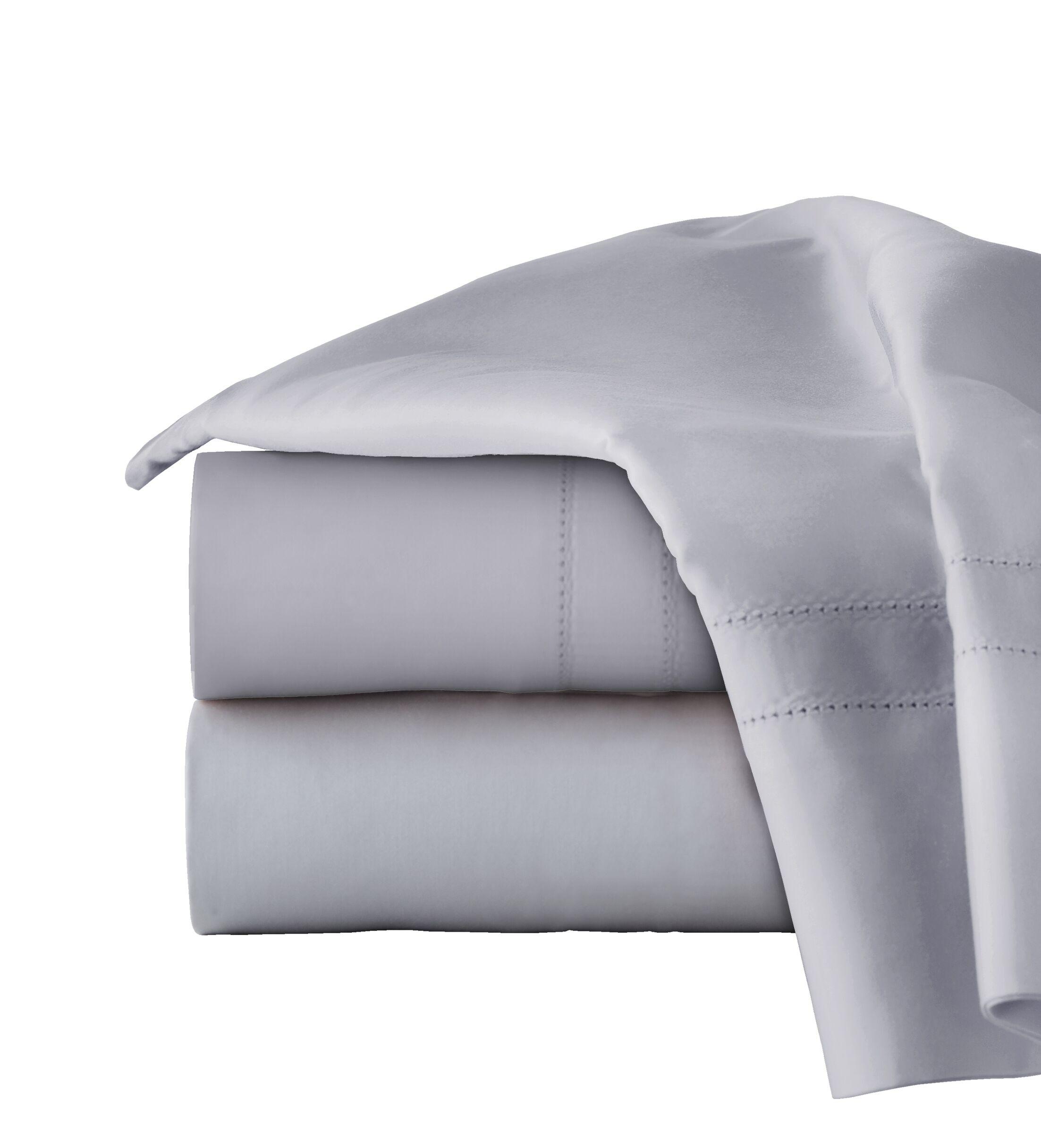 620 Thread Long Staple Count 100% Cotton Sheet Set Color: Gray, Size: King