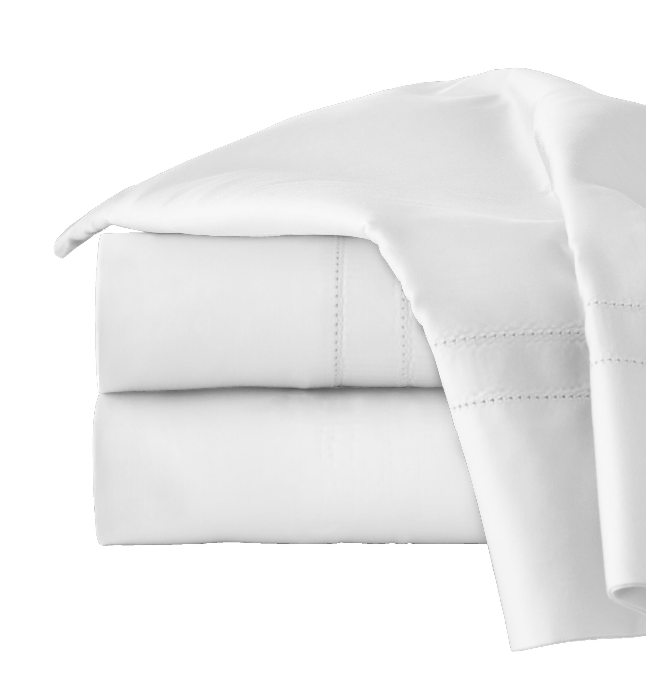 620 Thread Long Staple Count 100% Cotton Sheet Set Color: White, Size: King