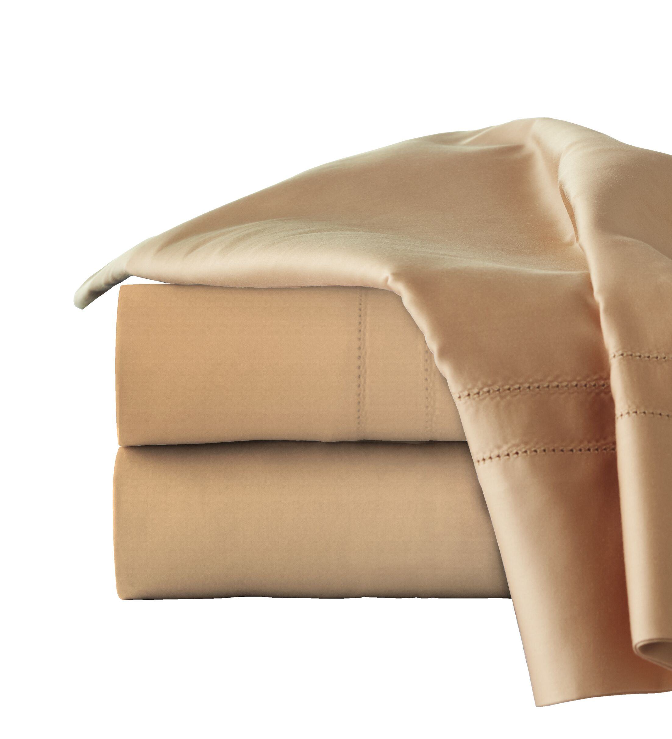 620 Thread Long Staple Count 100% Cotton Sheet Set Color: Iced Coffee, Size: Queen