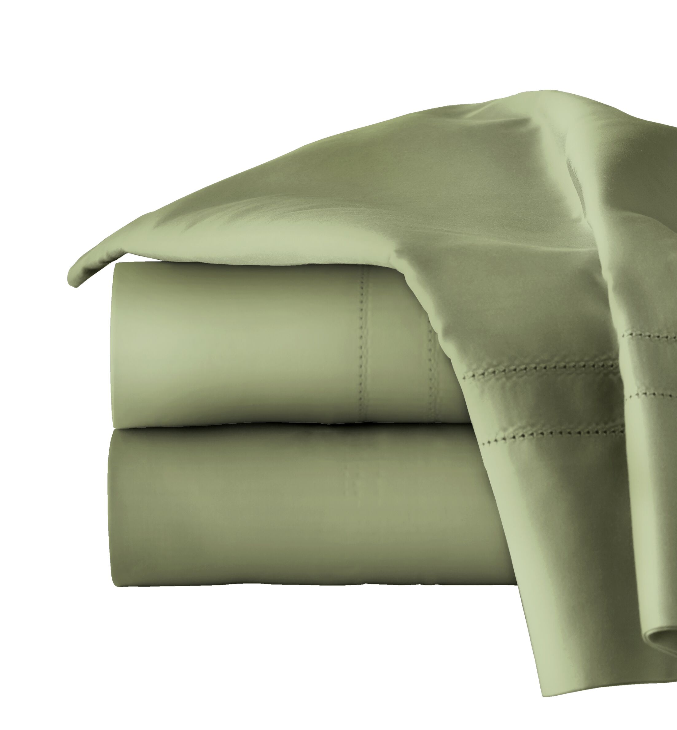 620 Thread Long Staple Count 100% Cotton Sheet Set Size: California King, Color: Moss