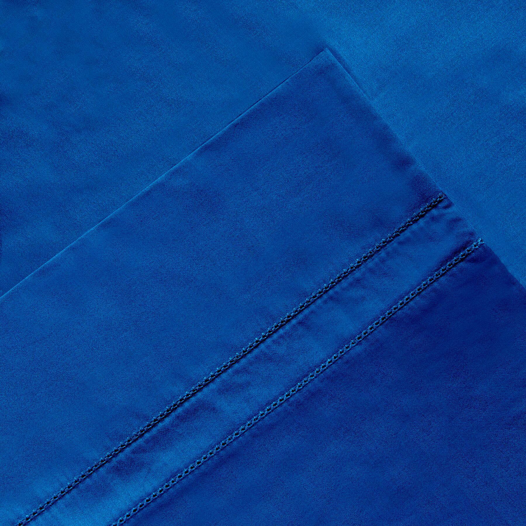 6 Piece 620 Thread Count 100% Long Staple Cotton Sheet Set Size: Queen, Color: Classic Blue