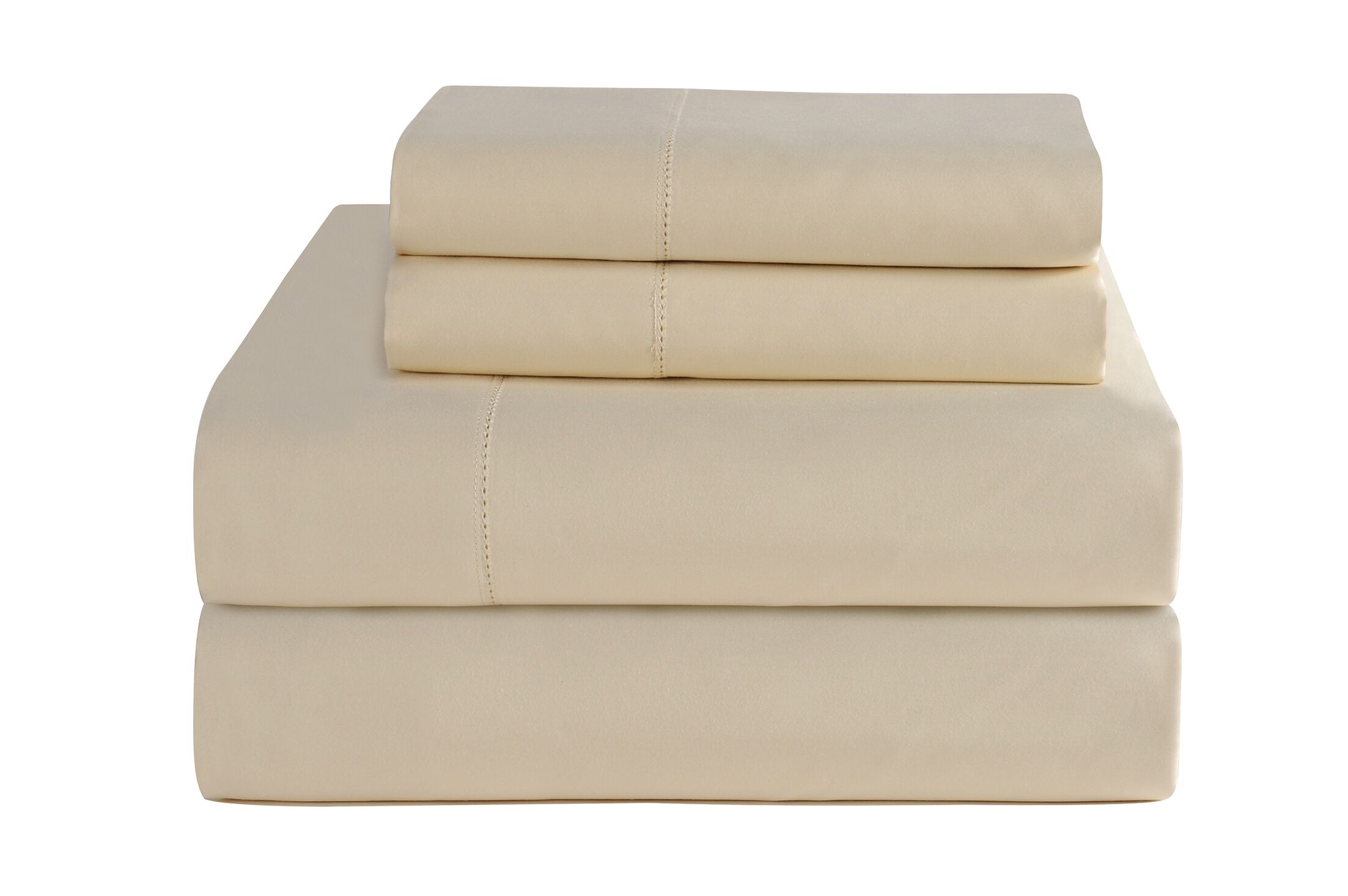 4 Piece 800 Thread Count Deep Pocket Luxury Sheet Set Size: King, Color: Bone