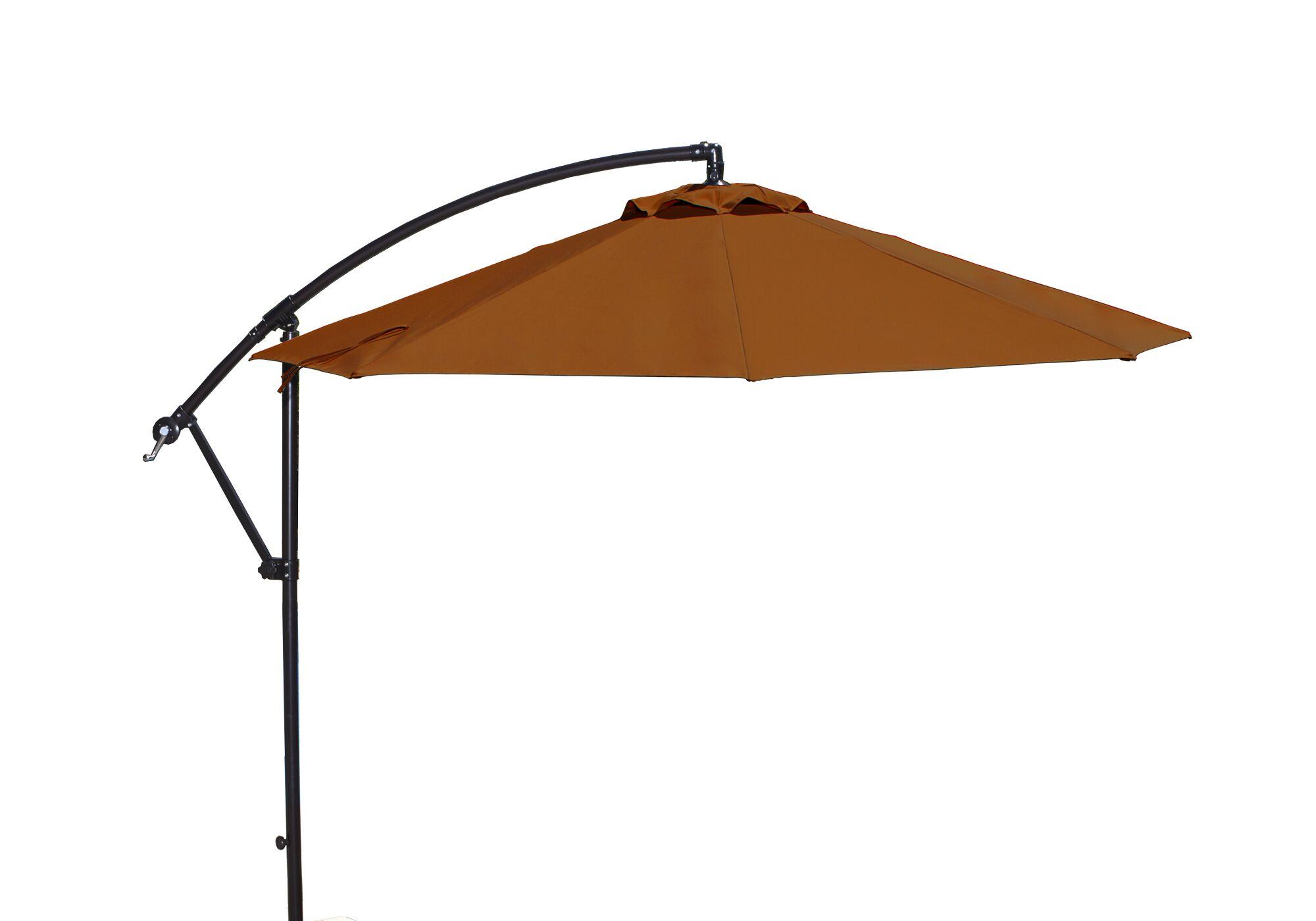 Santiago 10' Cantilever Sunbrella Umbrella Fabric: Terra Cotta Sunbrella Acrylic