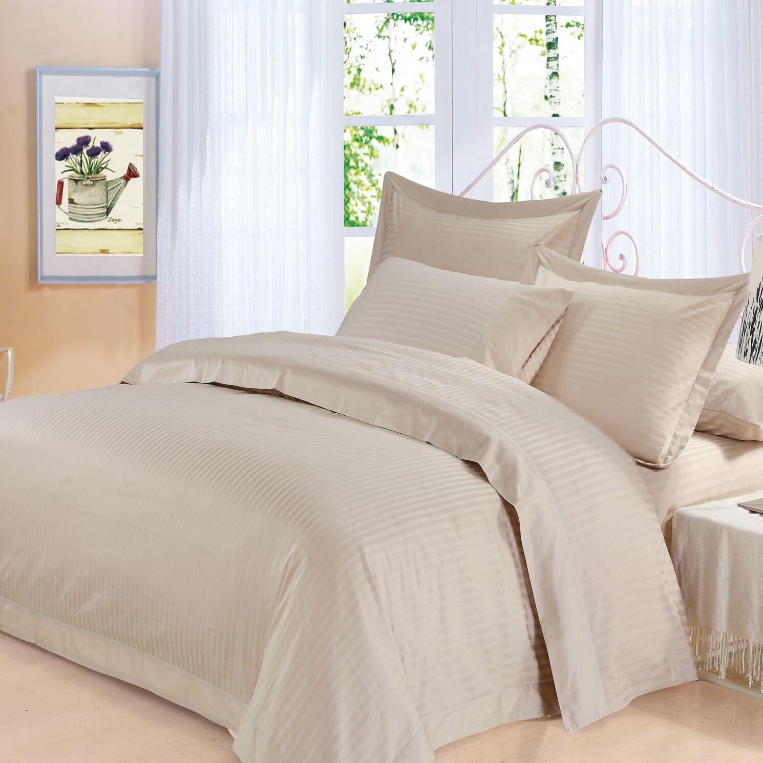Elite 4 Piece 500 Thread Count 100% Cotton Sheet Set Size: King, Color: Sand