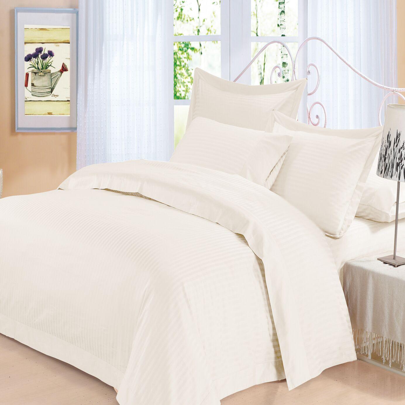 Elite 4 Piece 500 Thread Count 100% Cotton Sheet Set Color: Ivory, Size: King