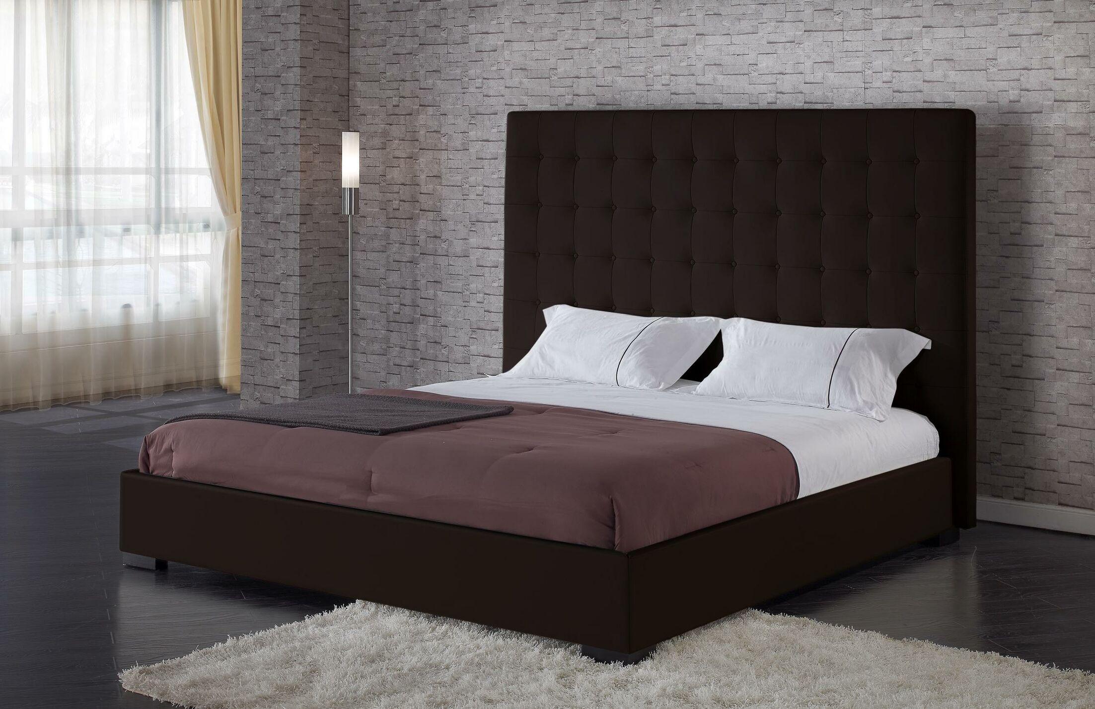 Metropolitan Upholstered Storage Platform Bed Size: Queen, Color: Espresso