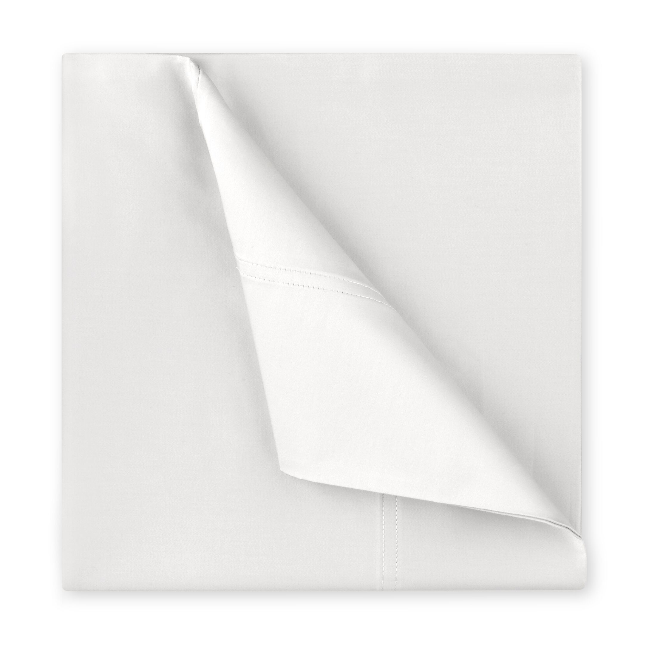 Williamsburg 400 Thread Count Cotton Sateen Sheet Set Color: White, Size: Full/Double
