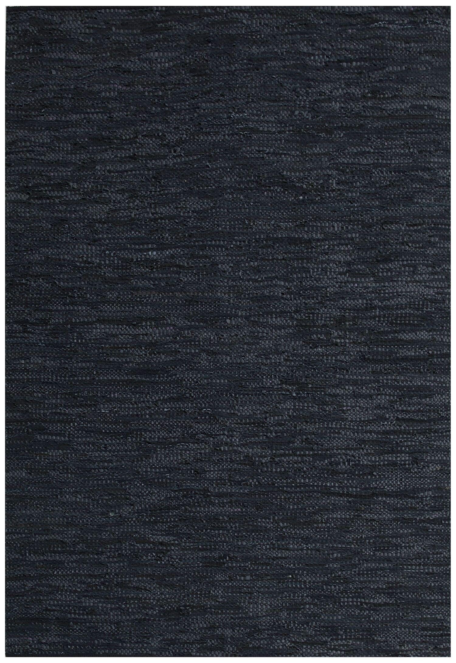 Black Area Rug Rug Size: 6' x 9'