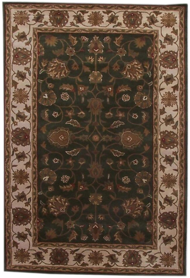 Aaryan Green/Cream Area Rug Rug Size: 8' x 10'6