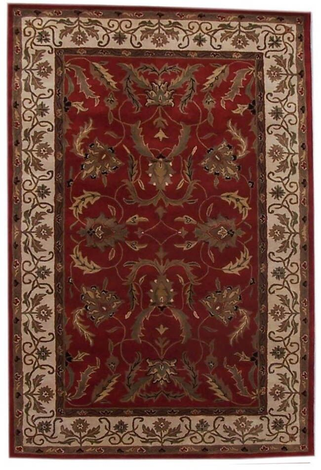 Aaryan Red/Cream Area Rug Rug Size: 8' x 10'6