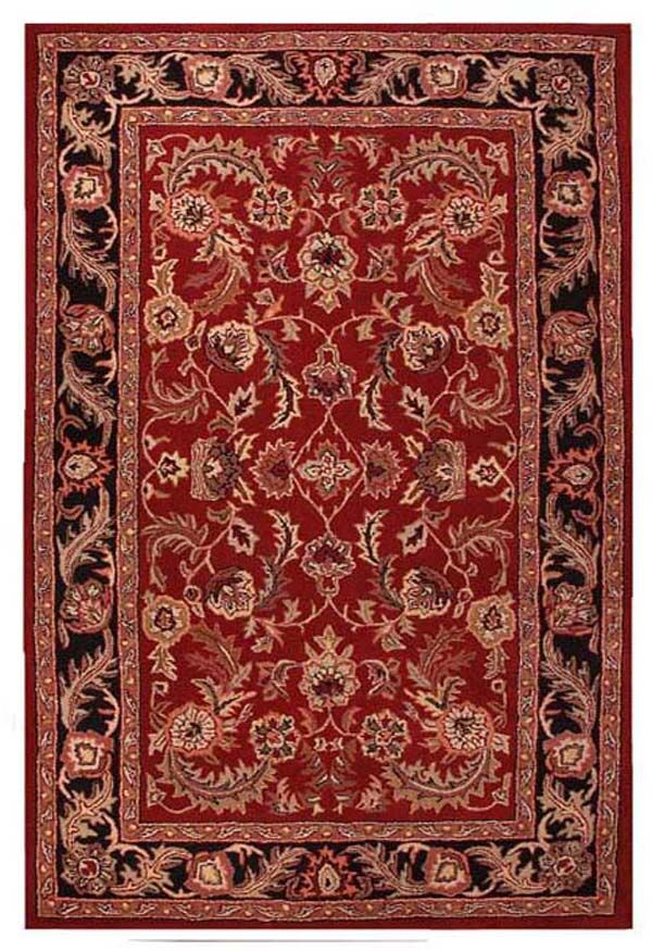 Artios Red/Black Area Rug Rug Size: 5' x 8'