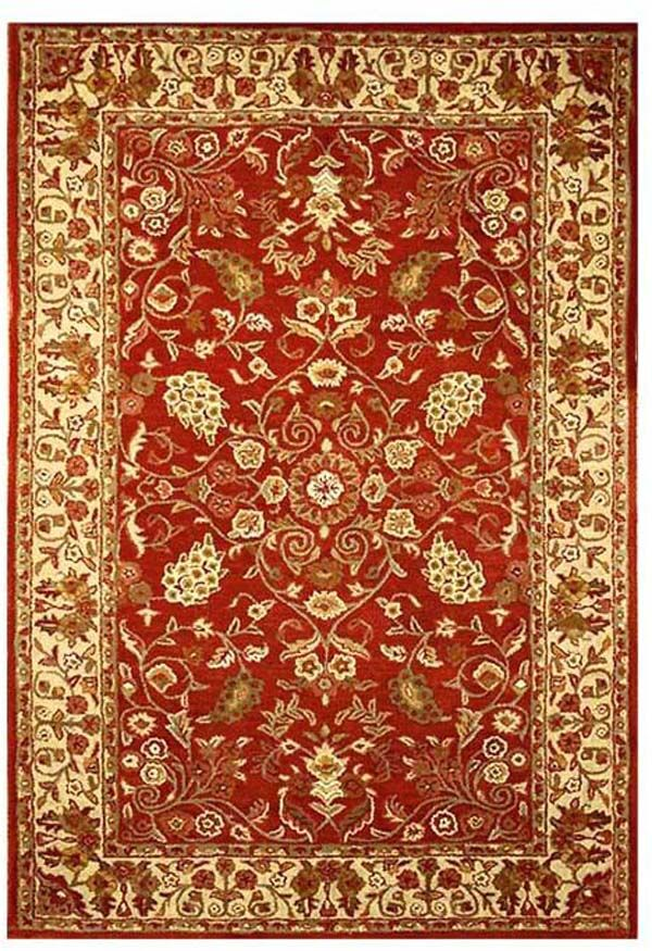 Artios Red/Gold Area Rug Rug Size: 9' x 13'