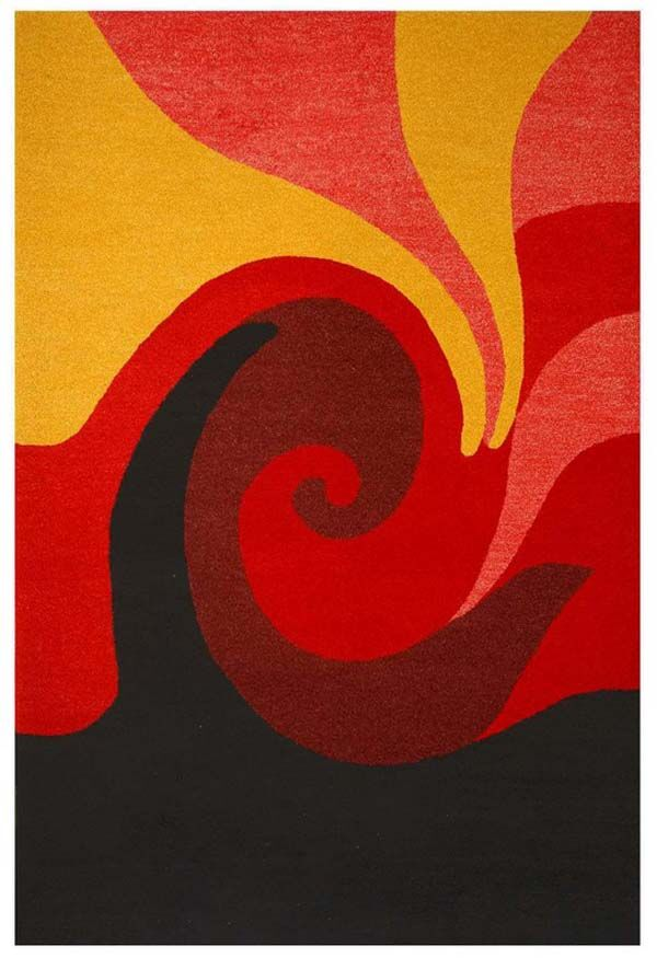 Contempo Red/Black Area Rug Rug Size: 8' x 10'6