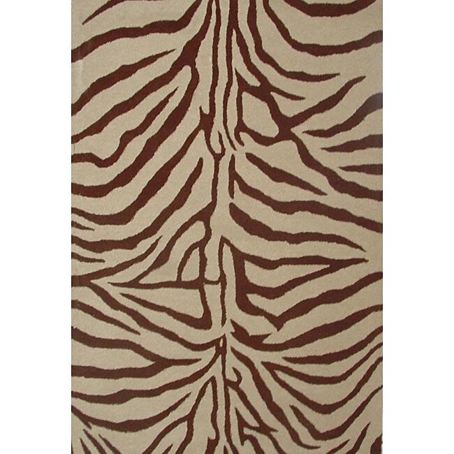 Contempo Beige/Brown Area Rug Rug Size: 8' x 10'6