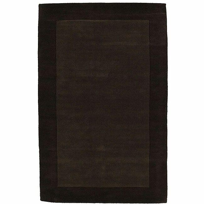 Loom Brown/Dark Brown Rug Rug Size: 5' x 8'