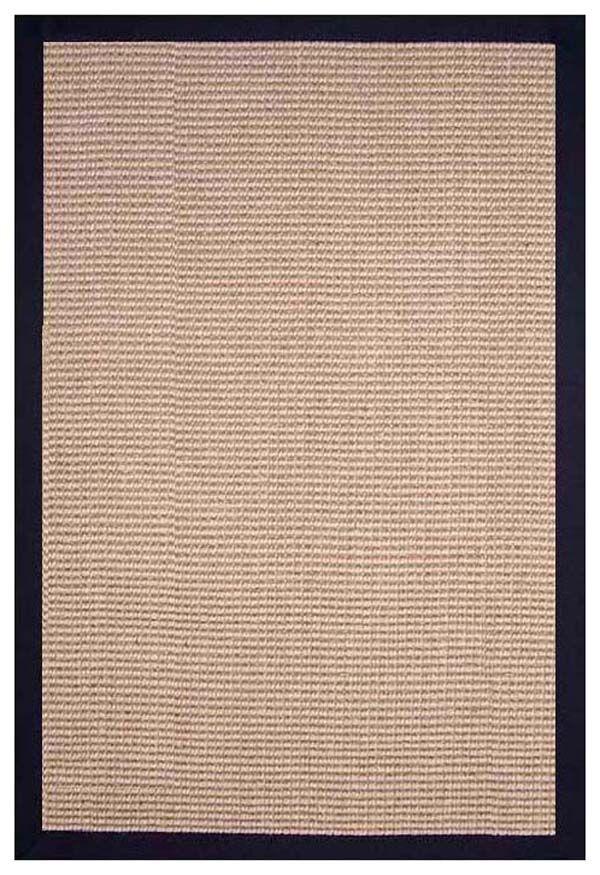 Sisal Hand-Woven Natural/Black Area Rug Rug Size: Rectangle 9' x 12'