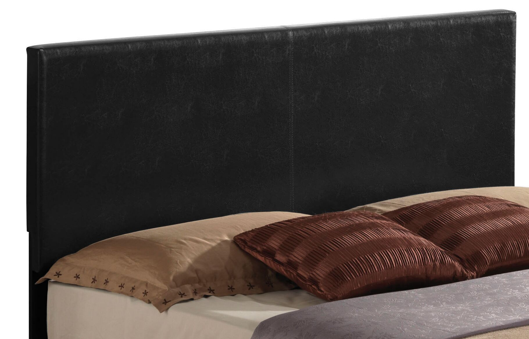 Schermerhorn Upholstered Panel Headboard Size: Full, Upholstery: Black