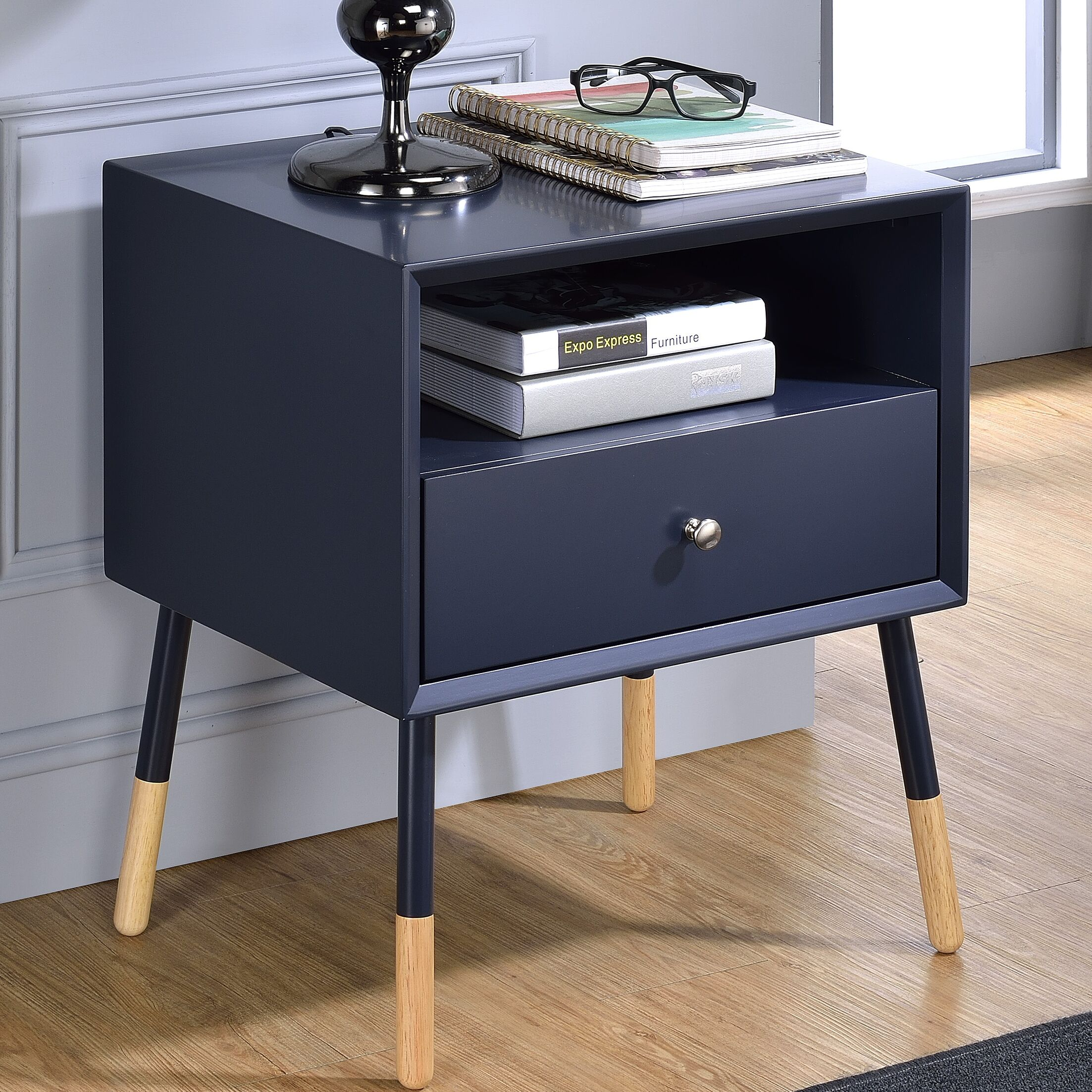 Bowersville End Table Color: Black