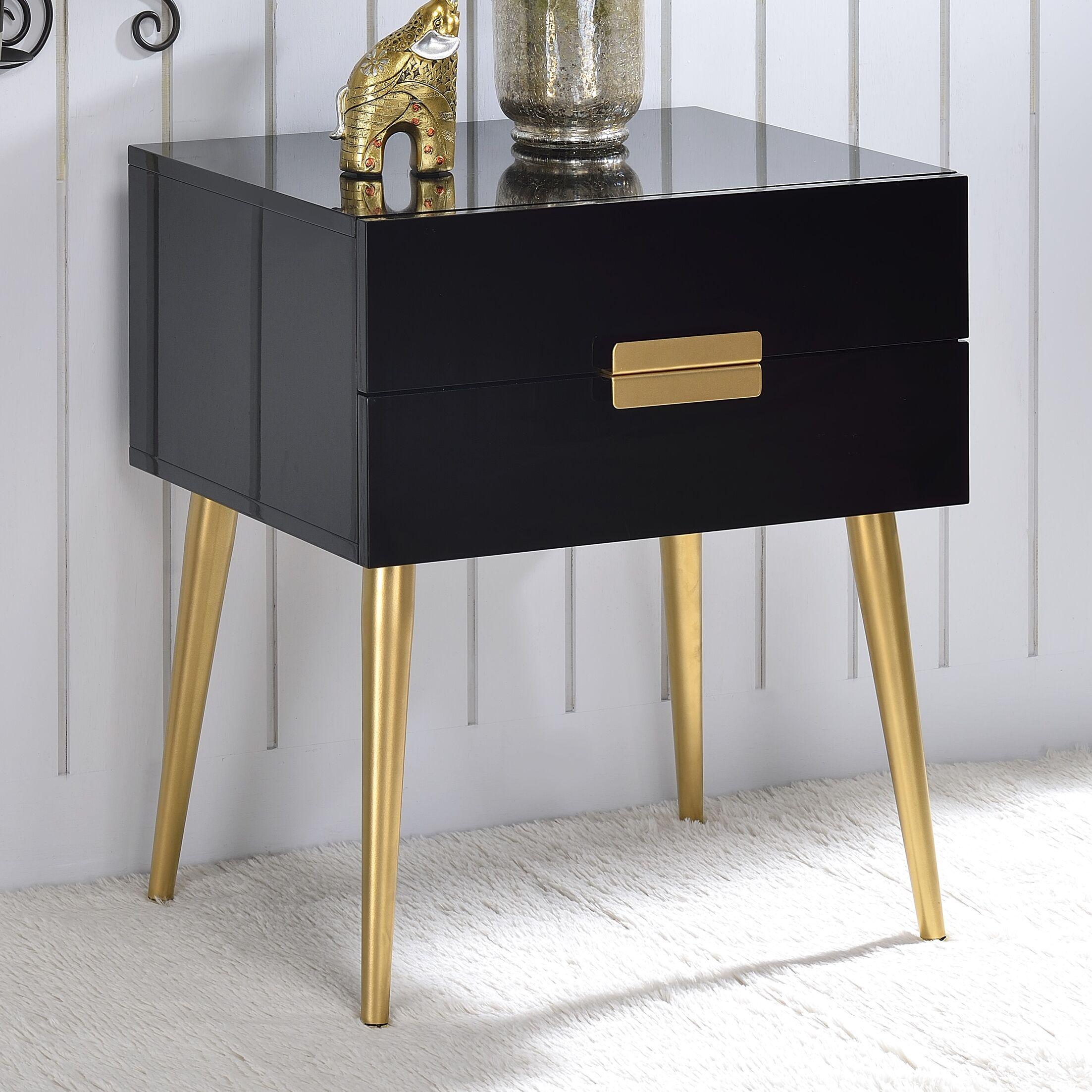 Pierre End Table Color: Black