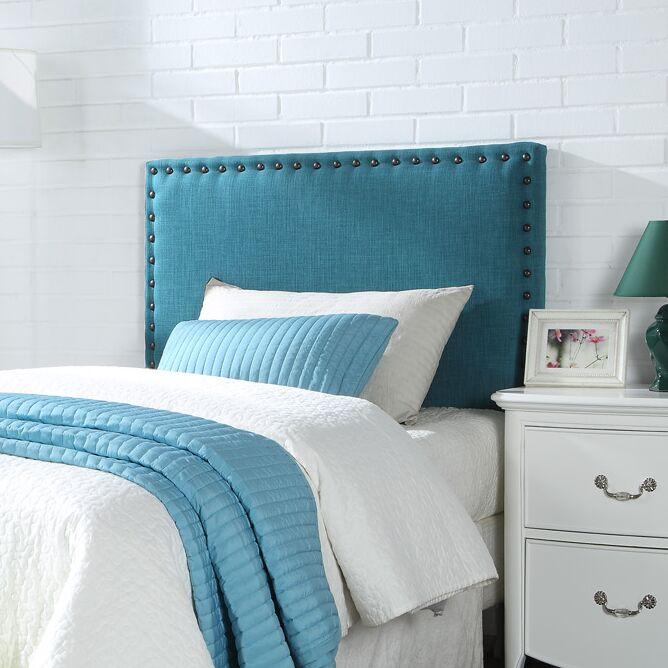 Antigua Upholstered Panel Headboard Upholstery: Blue