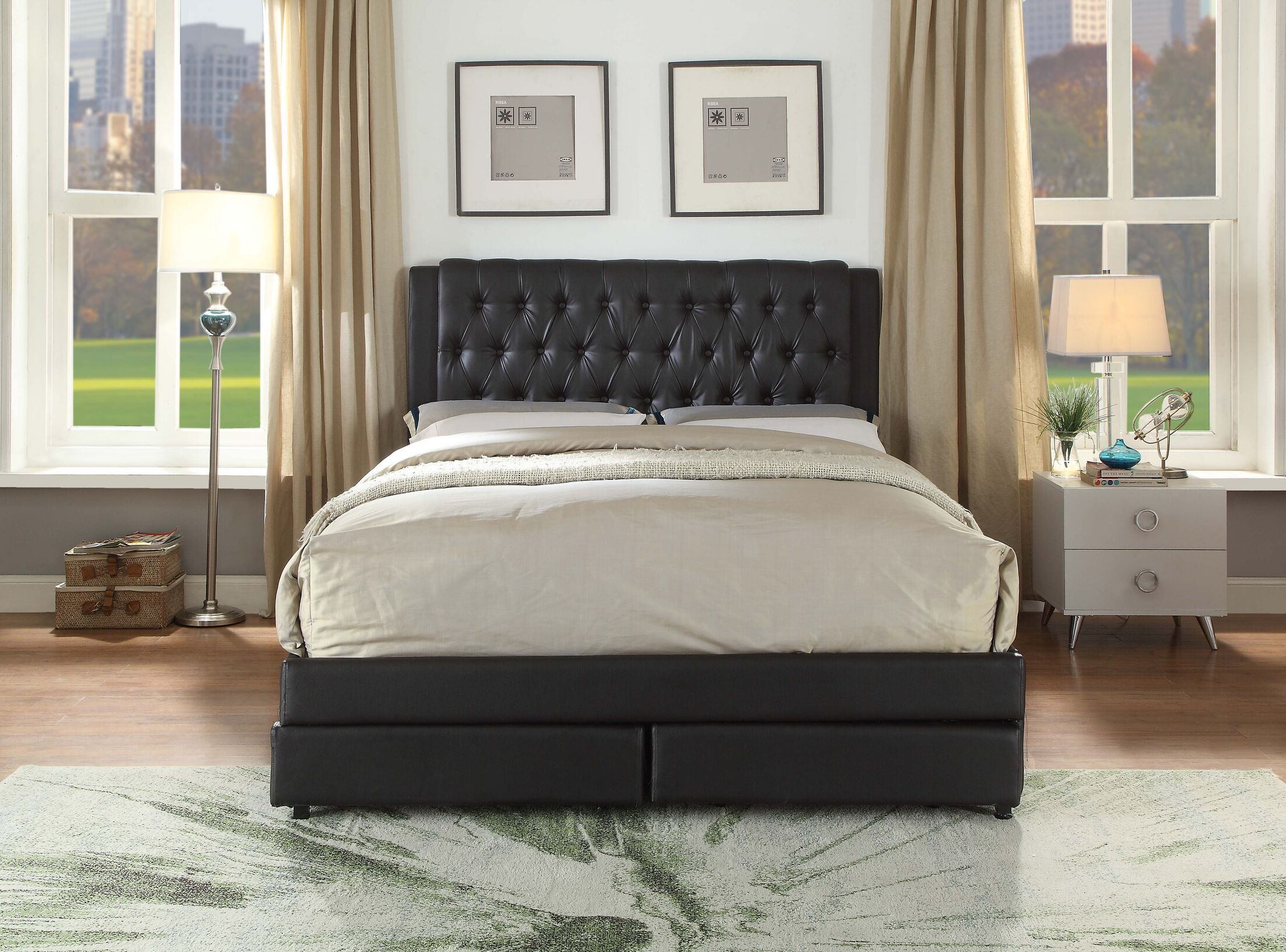 Francille Queen Upholstered Storage Platform Bed