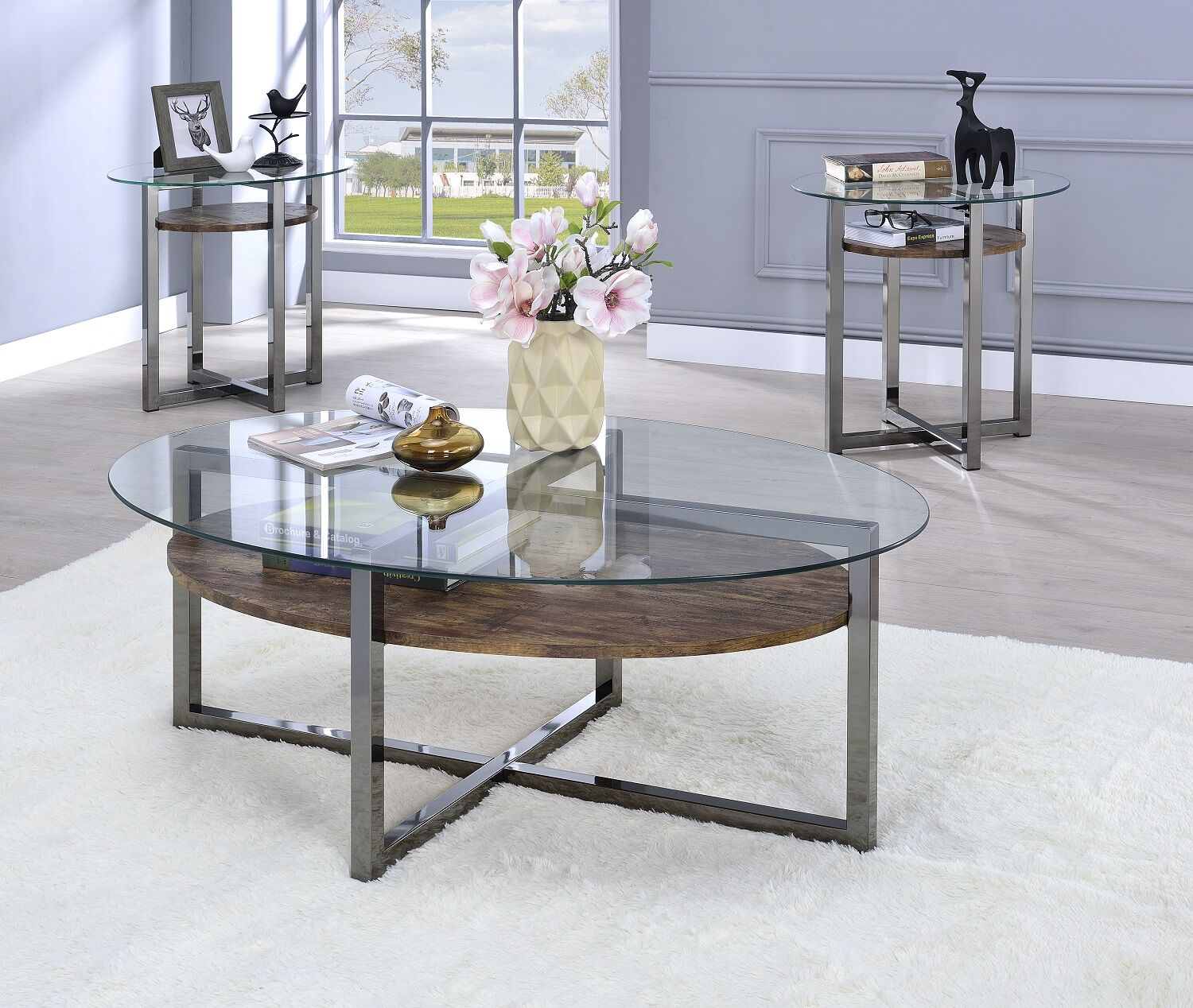 Melora 2 Piece Coffee Table Set