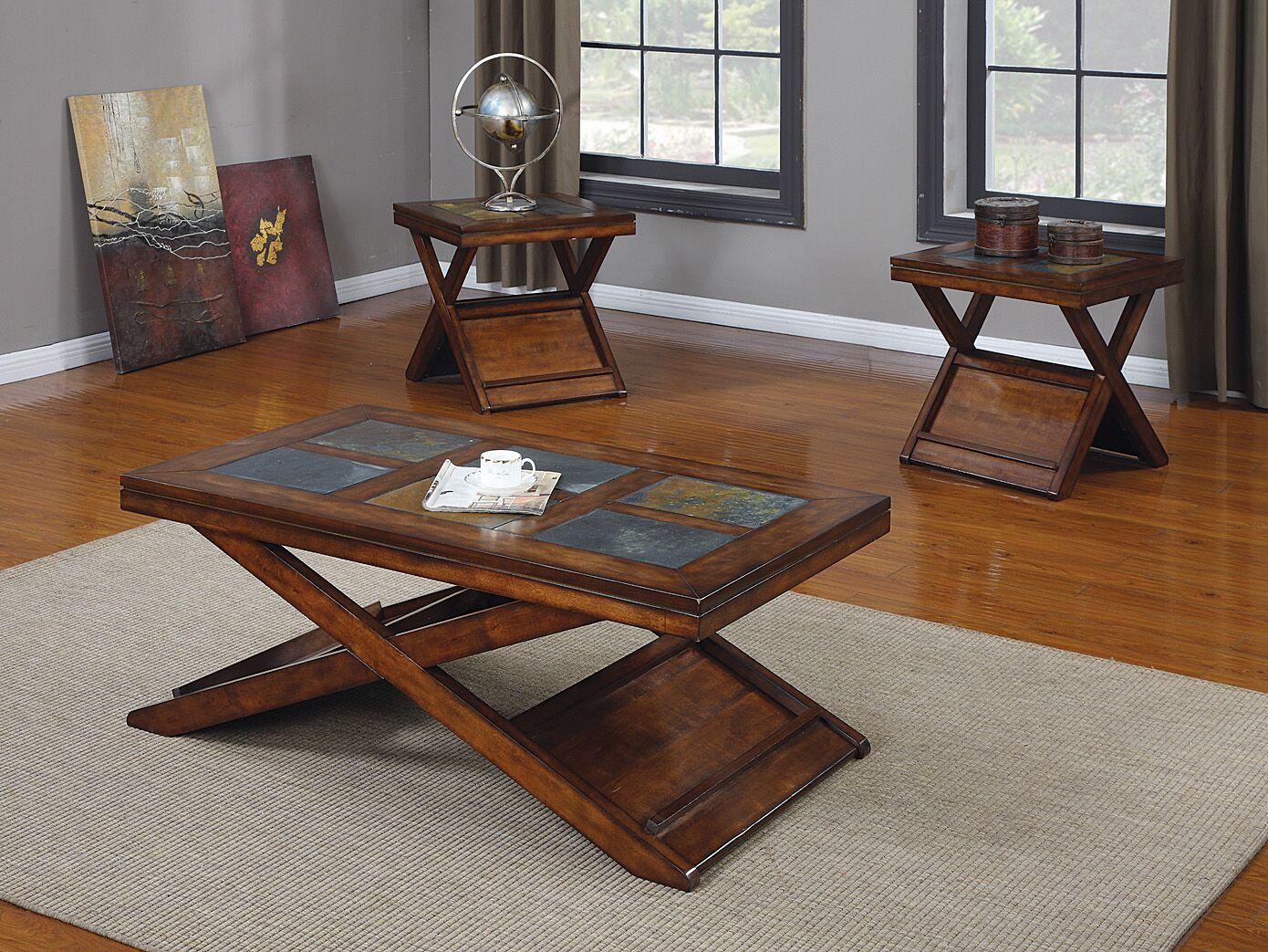 Pamala 3 Piece Coffee Table Set