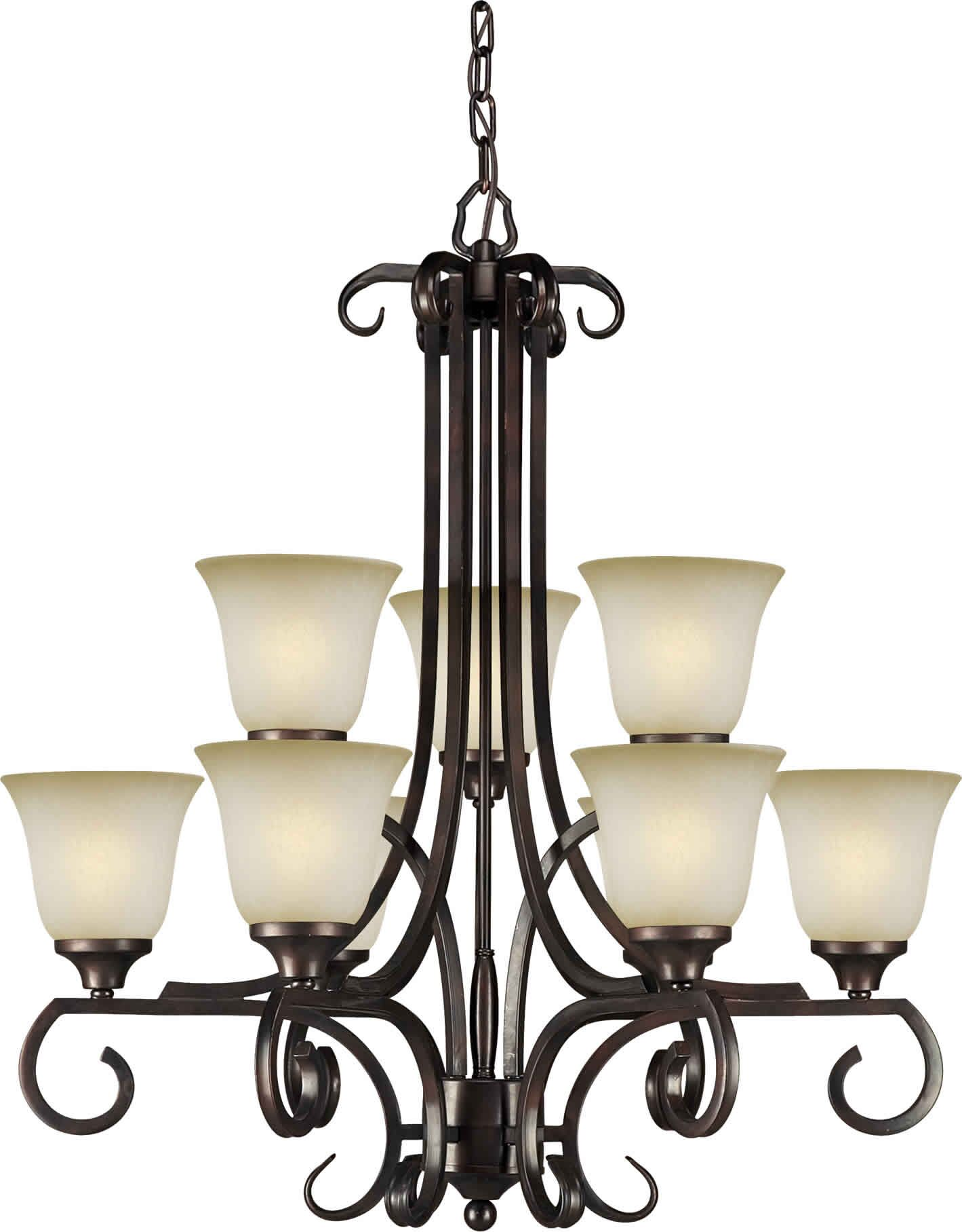 Cordia 9-Light Shaded Chandelier
